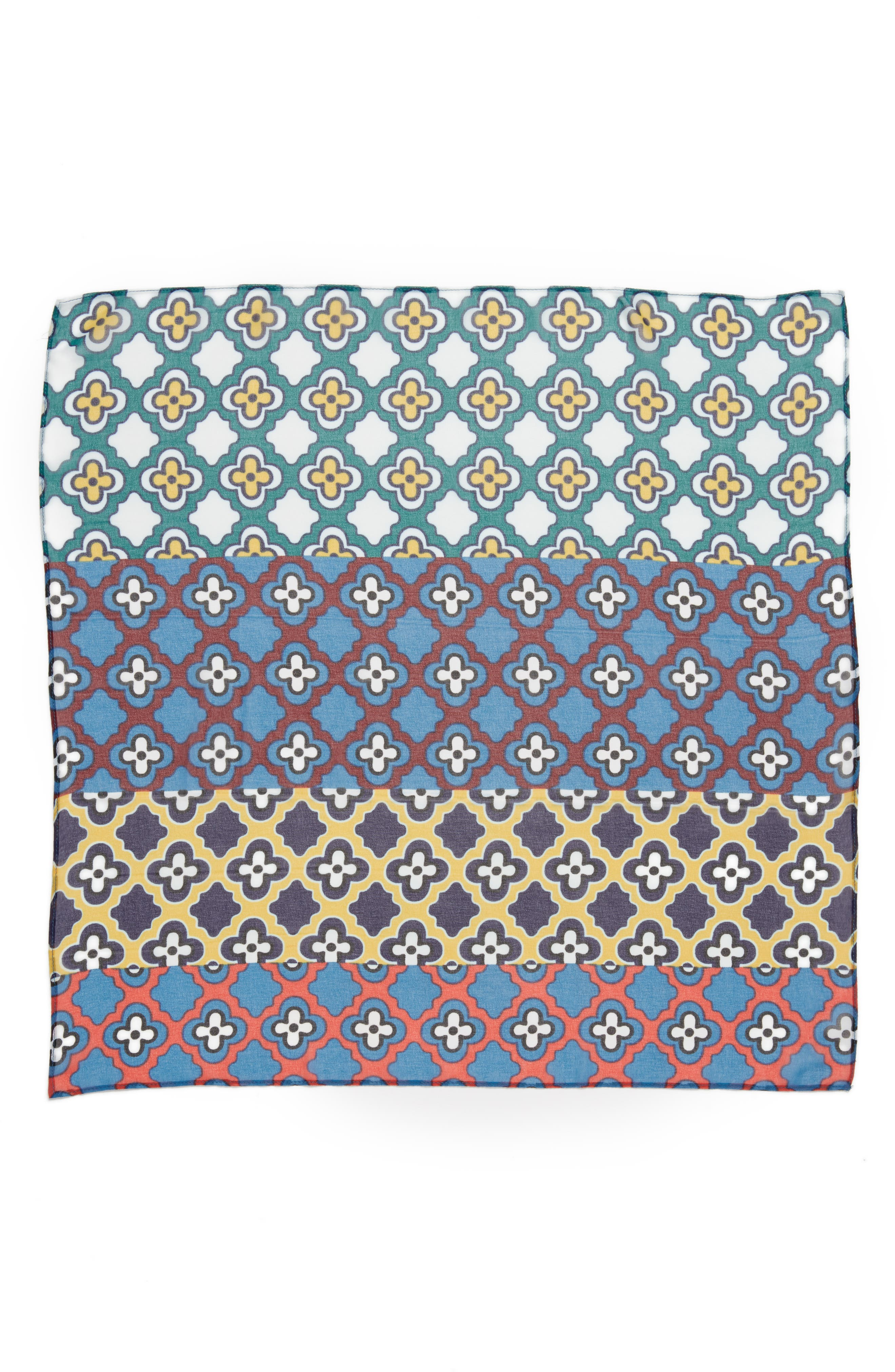 Summer Medallion Square Scarf,                             Alternate thumbnail 3, color,                             410