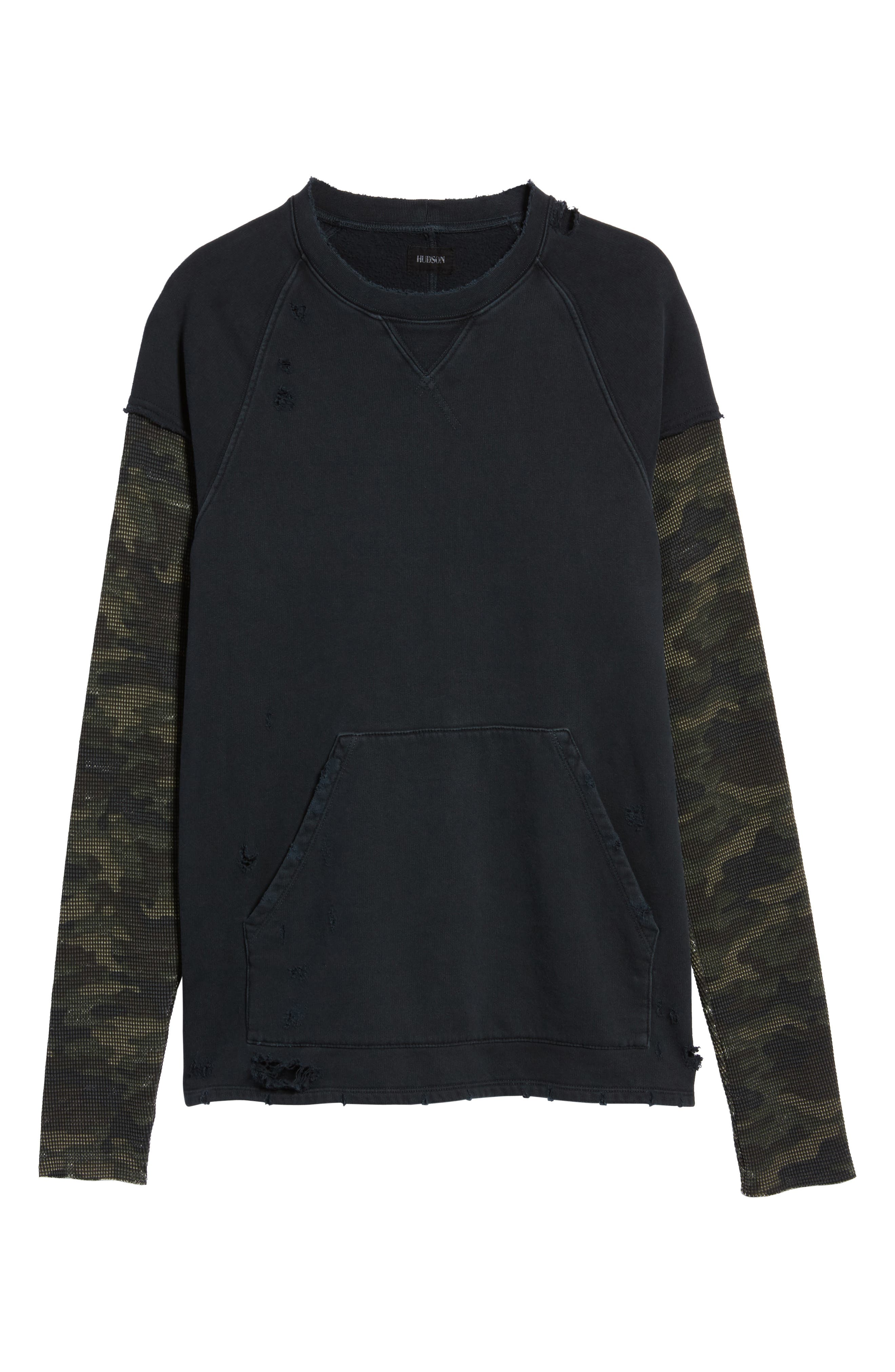 Striker Slim Fit Crewneck Sweatshirt,                             Alternate thumbnail 6, color,
