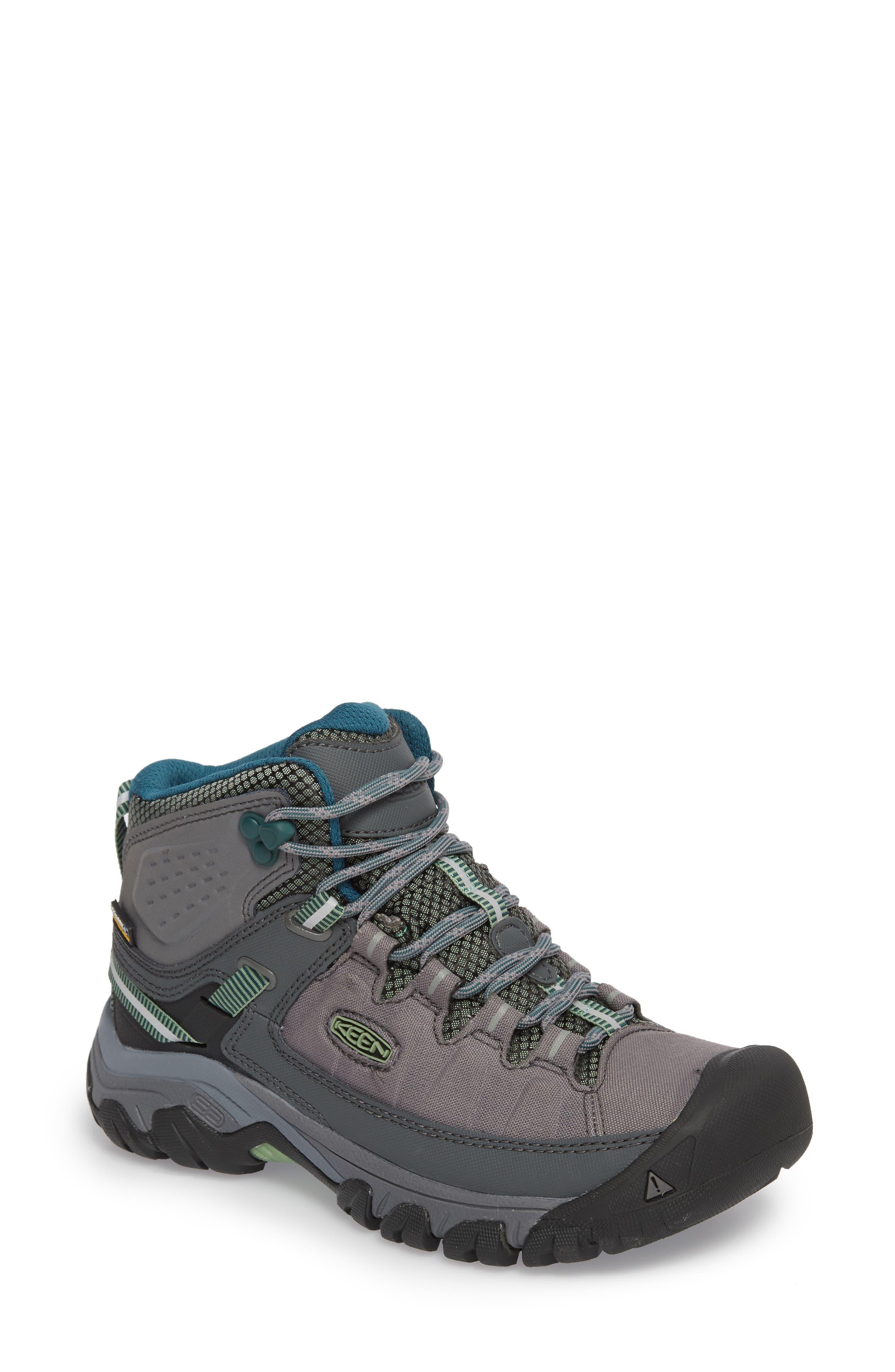Targhee EXP Mid Waterproof Hiking Shoe,                             Main thumbnail 1, color,                             STEEL GREY/ BASIL
