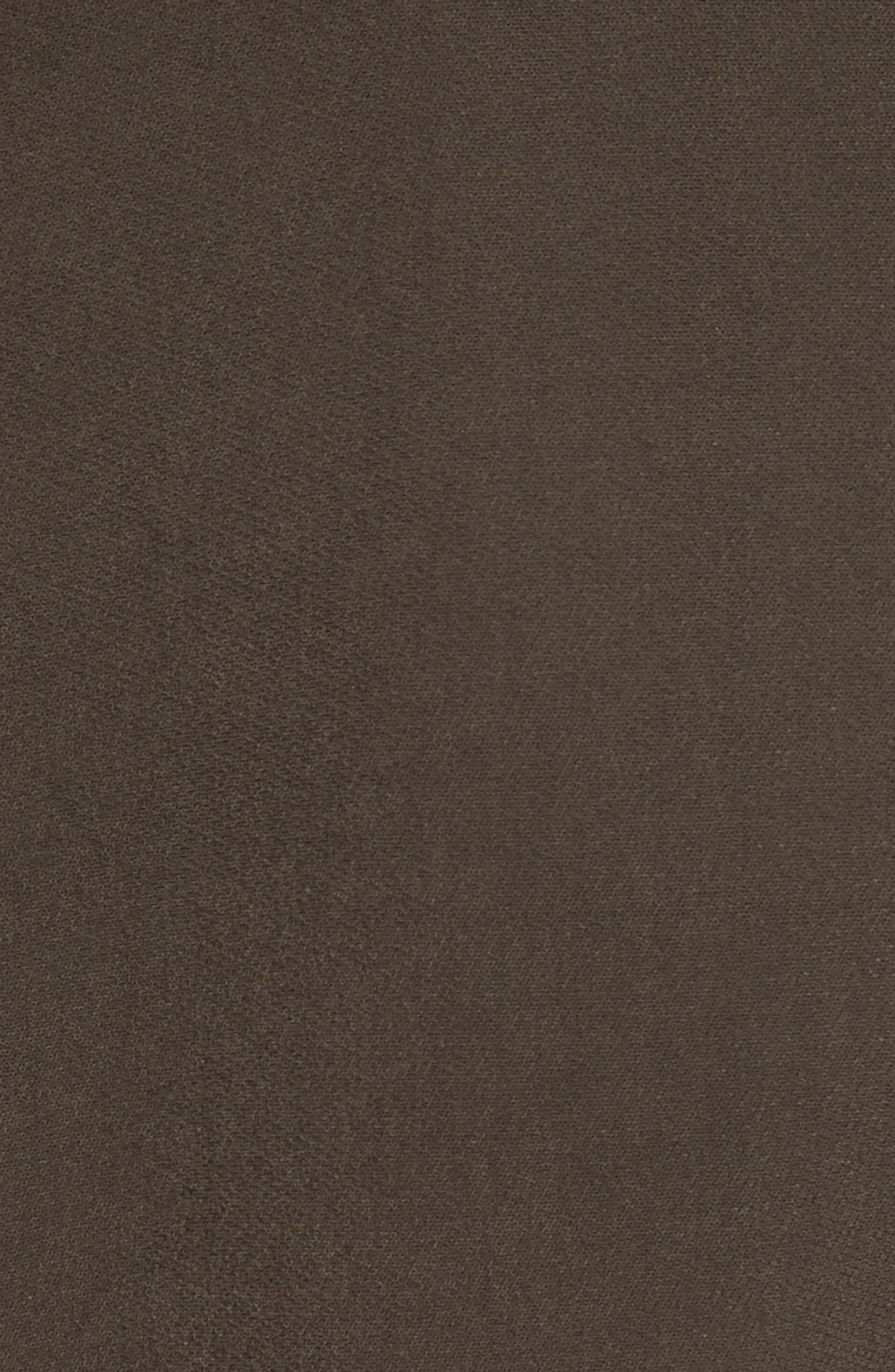 Paneled Cady Midi Dress,                             Alternate thumbnail 6, color,                             KHAKI GREEN