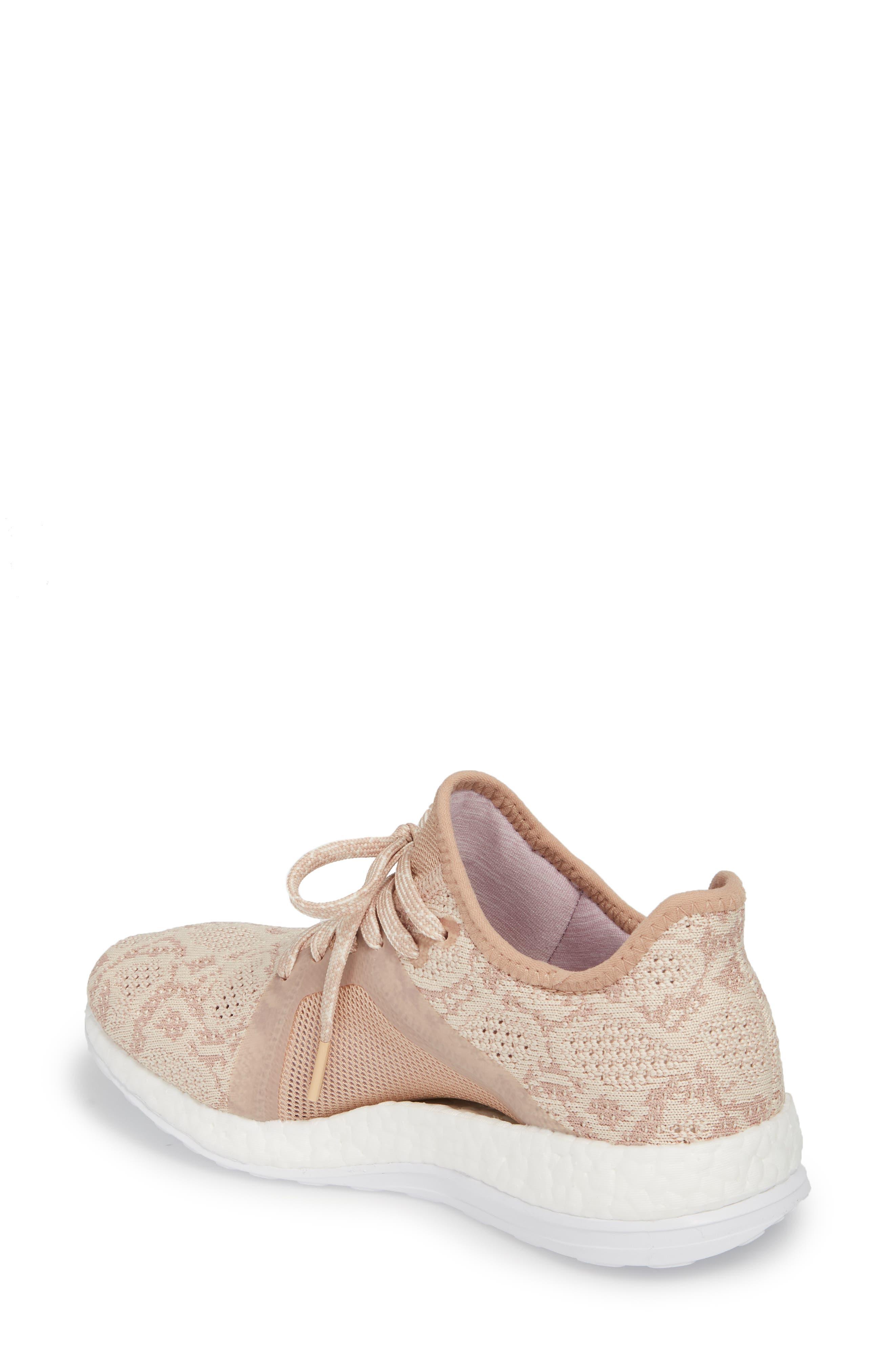 PureBoost X Element Knit Running Shoe,                             Alternate thumbnail 2, color,                             ASH PEARL/ ASH PEARL