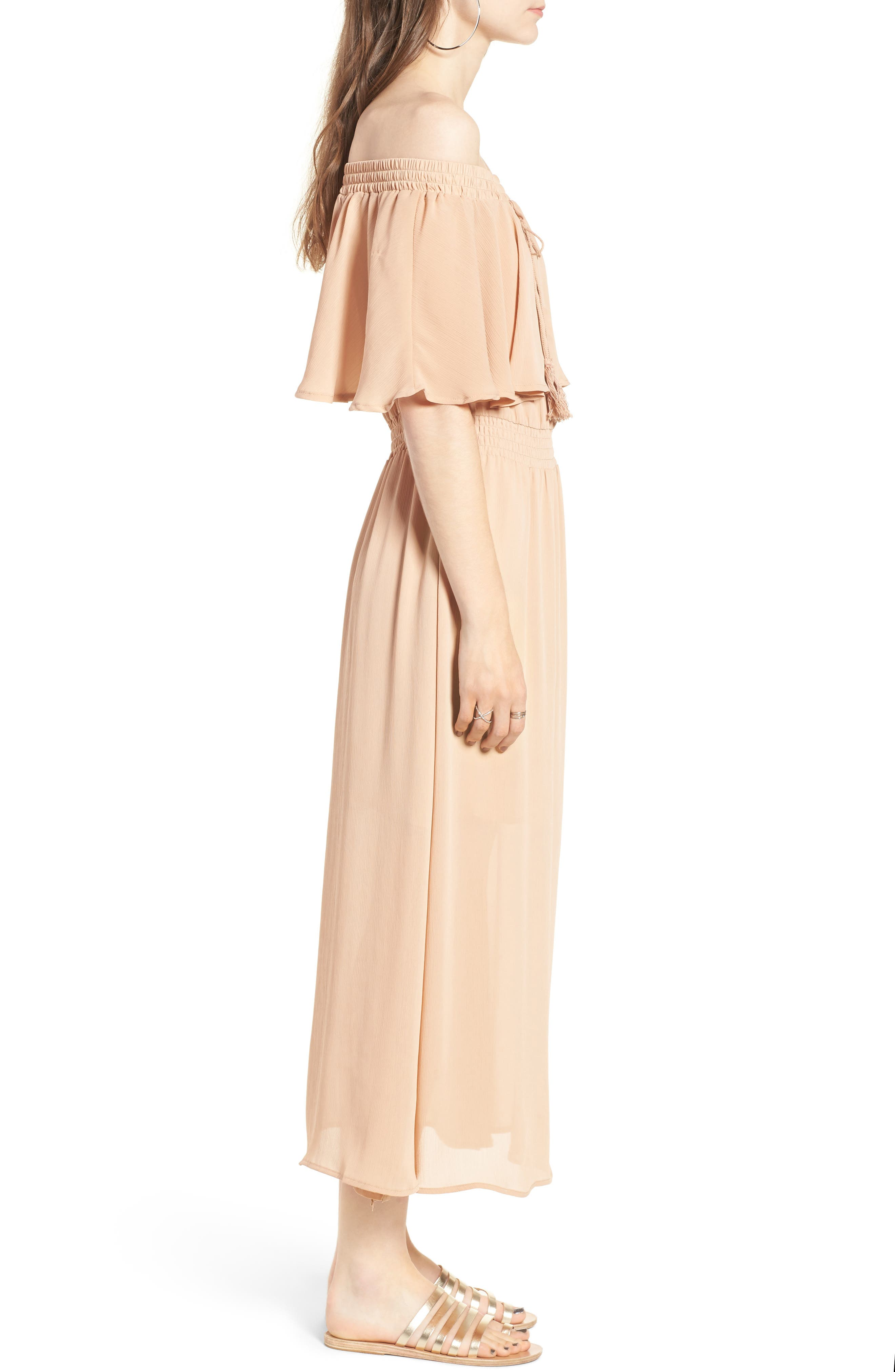 Touch the Sun Off the Shoulder Dress,                             Alternate thumbnail 6, color,