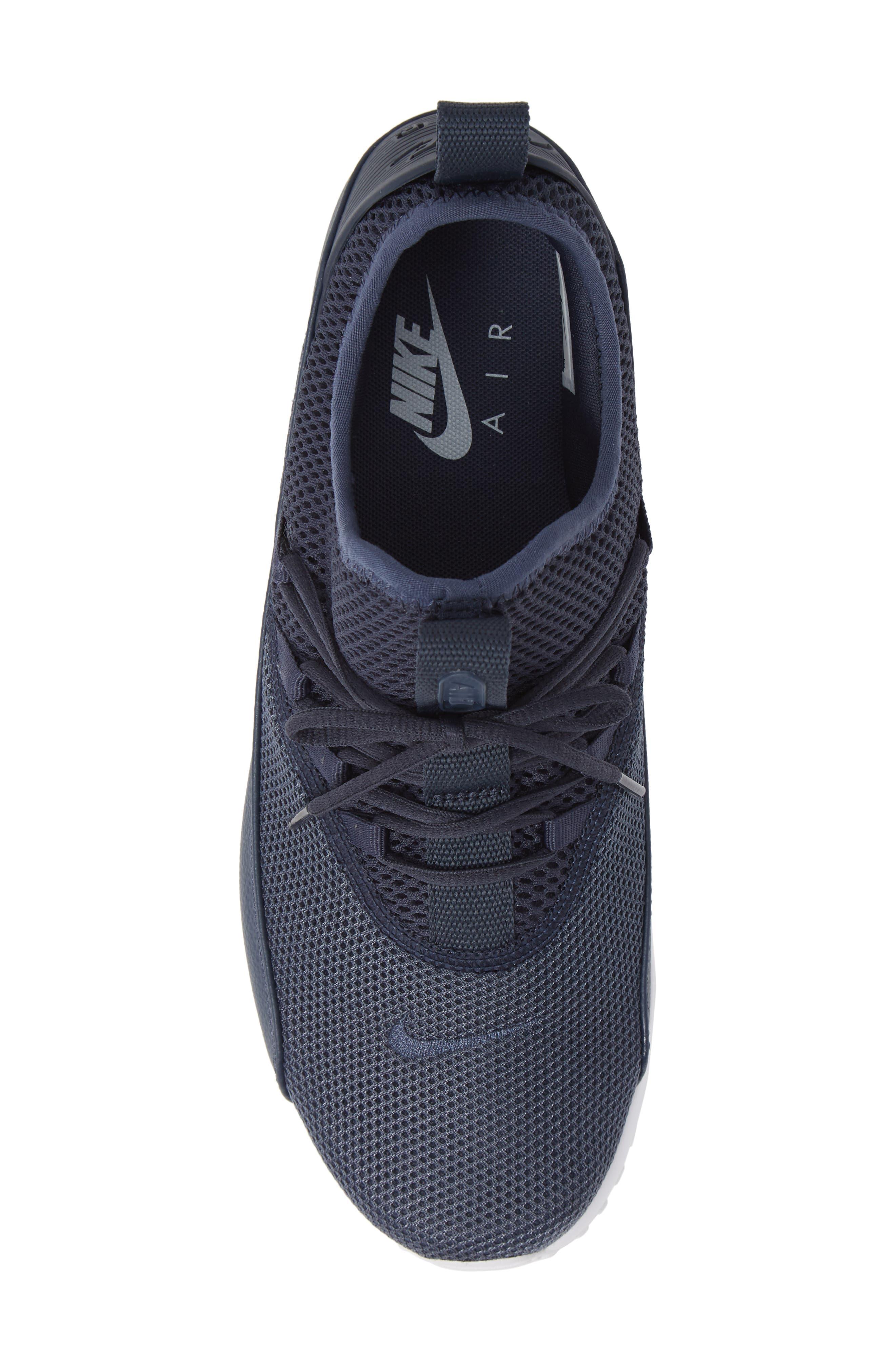 Air Max 90 EZ Sneaker,                             Alternate thumbnail 5, color,                             THUNDER BLUE/ WHITE