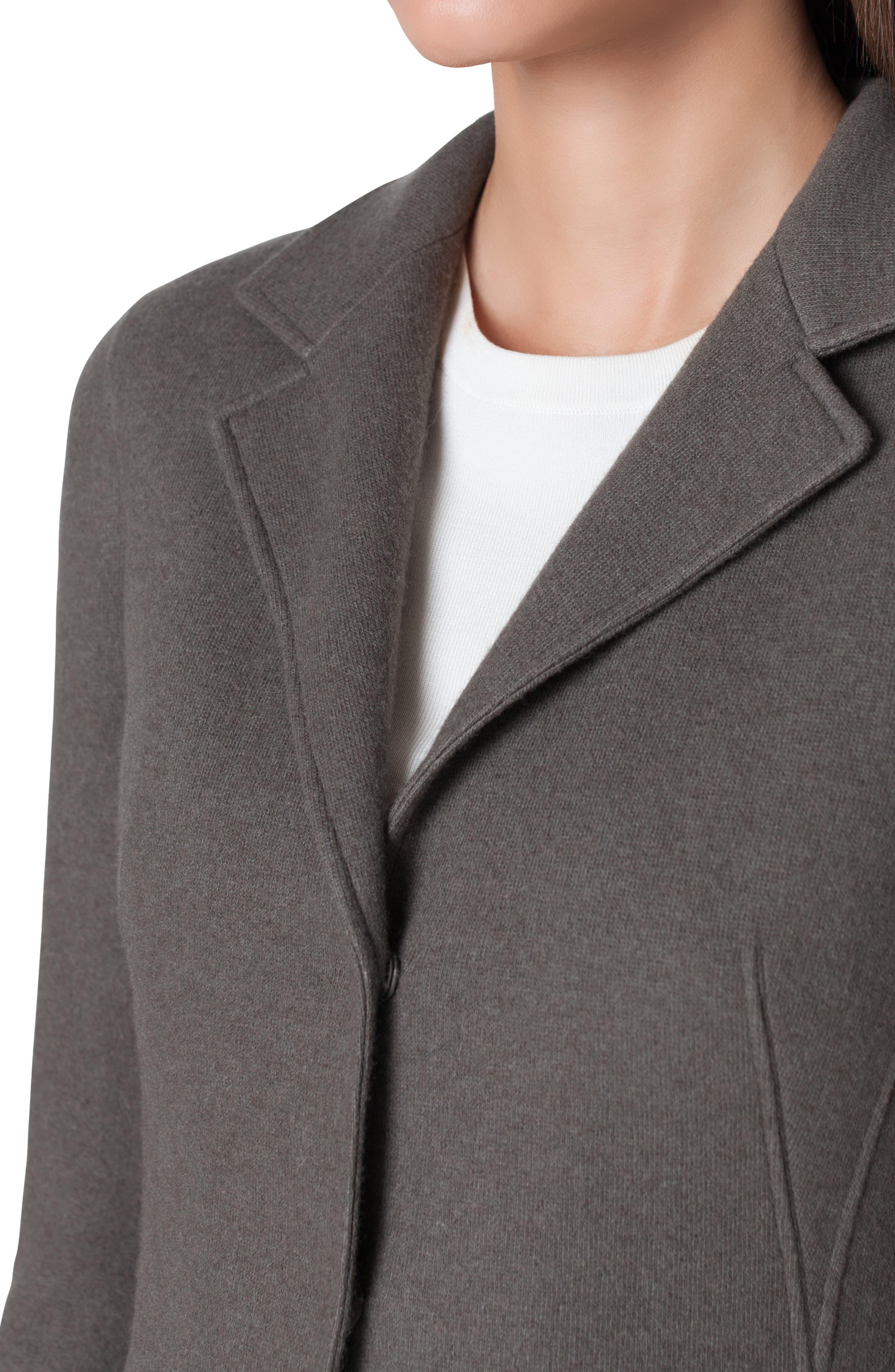 Cashmere Blend Jersey Blazer,                             Alternate thumbnail 3, color,                             MAGNET-KRAFT