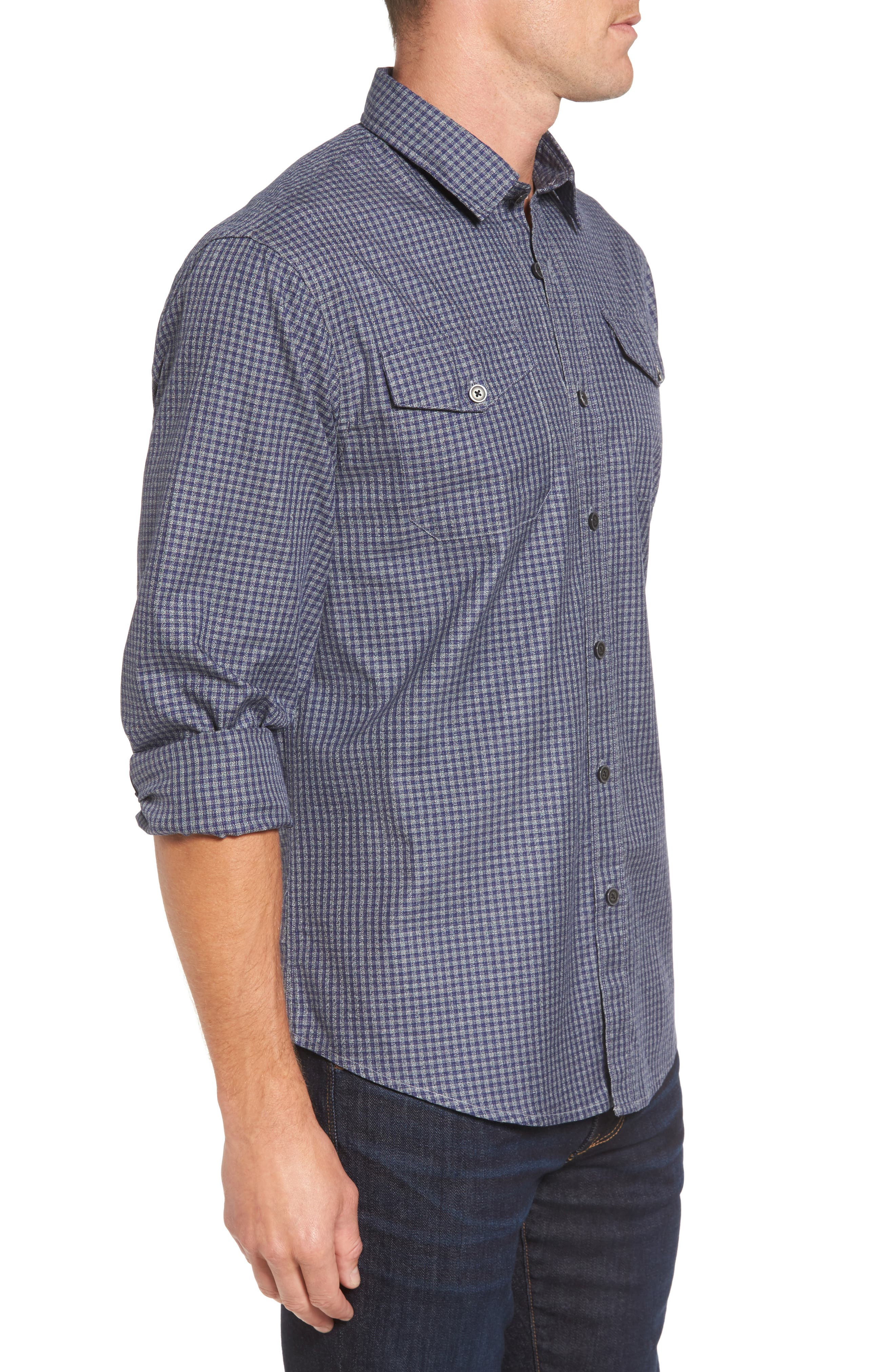 Main Street Check Flannel Shirt,                             Alternate thumbnail 3, color,                             405