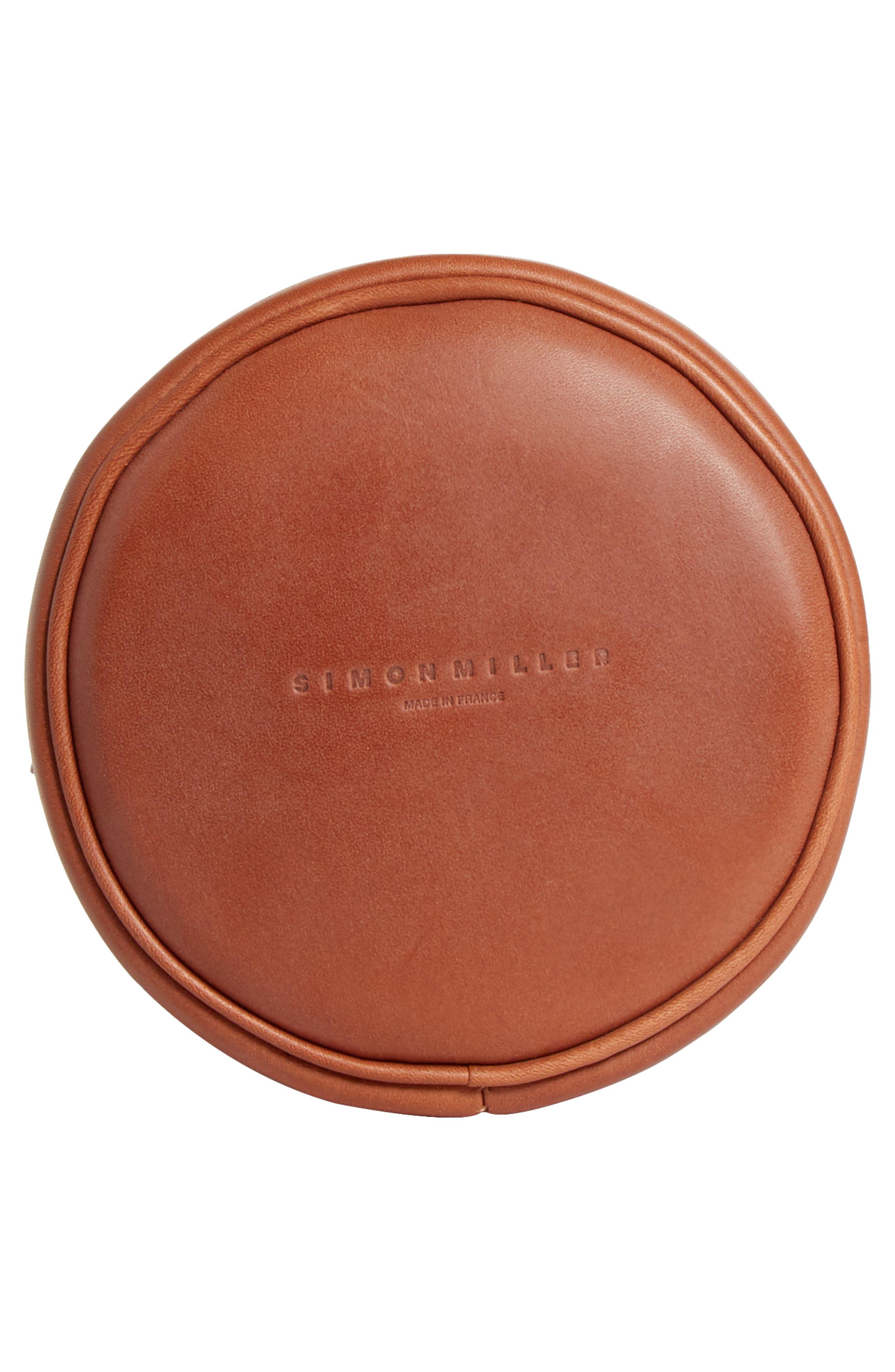 Bonsai 15 Calfskin Leather Bucket Bag,                             Alternate thumbnail 6, color,                             DARK TAN