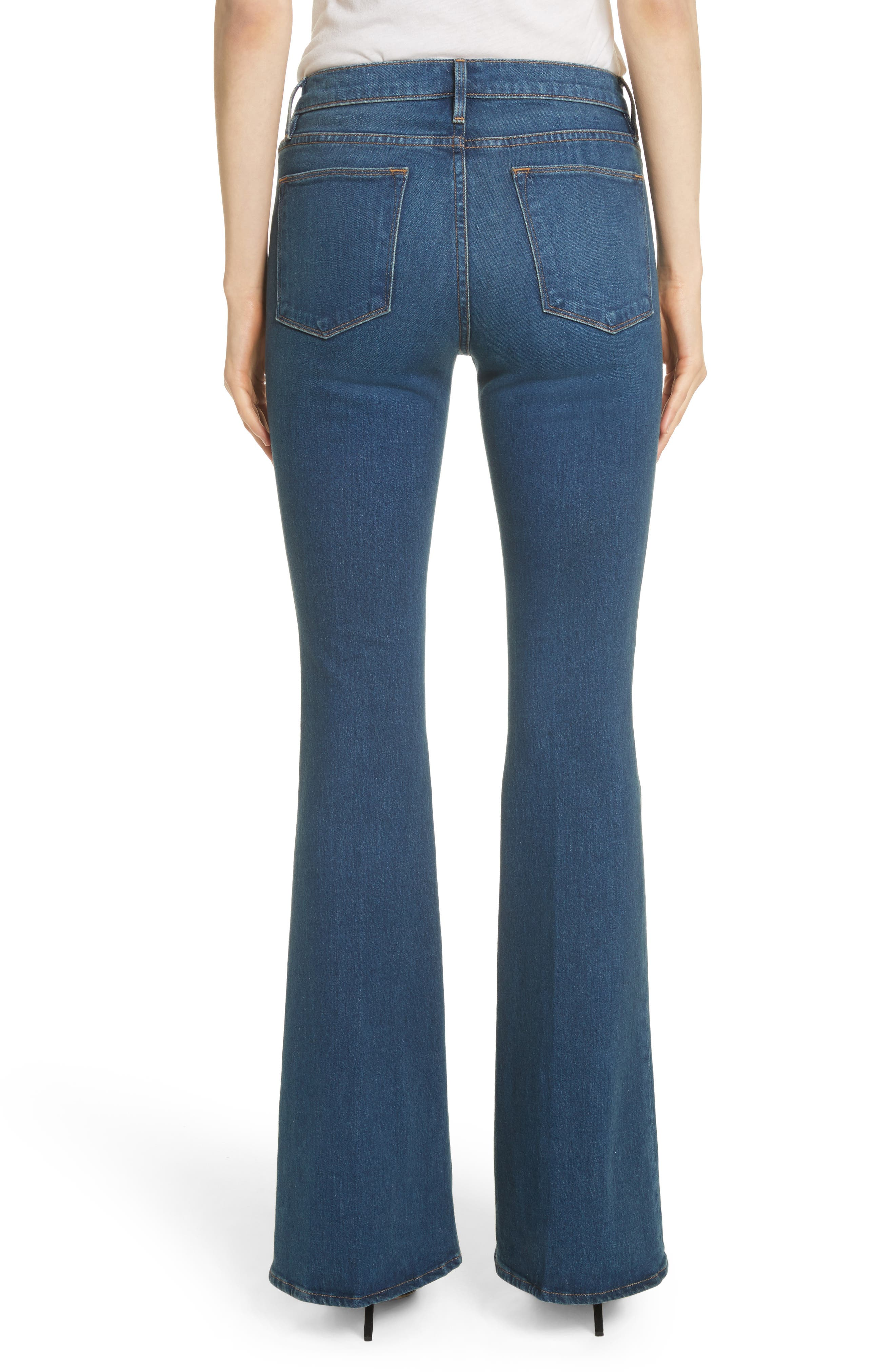 Le High Flare Jeans,                             Alternate thumbnail 2, color,                             401