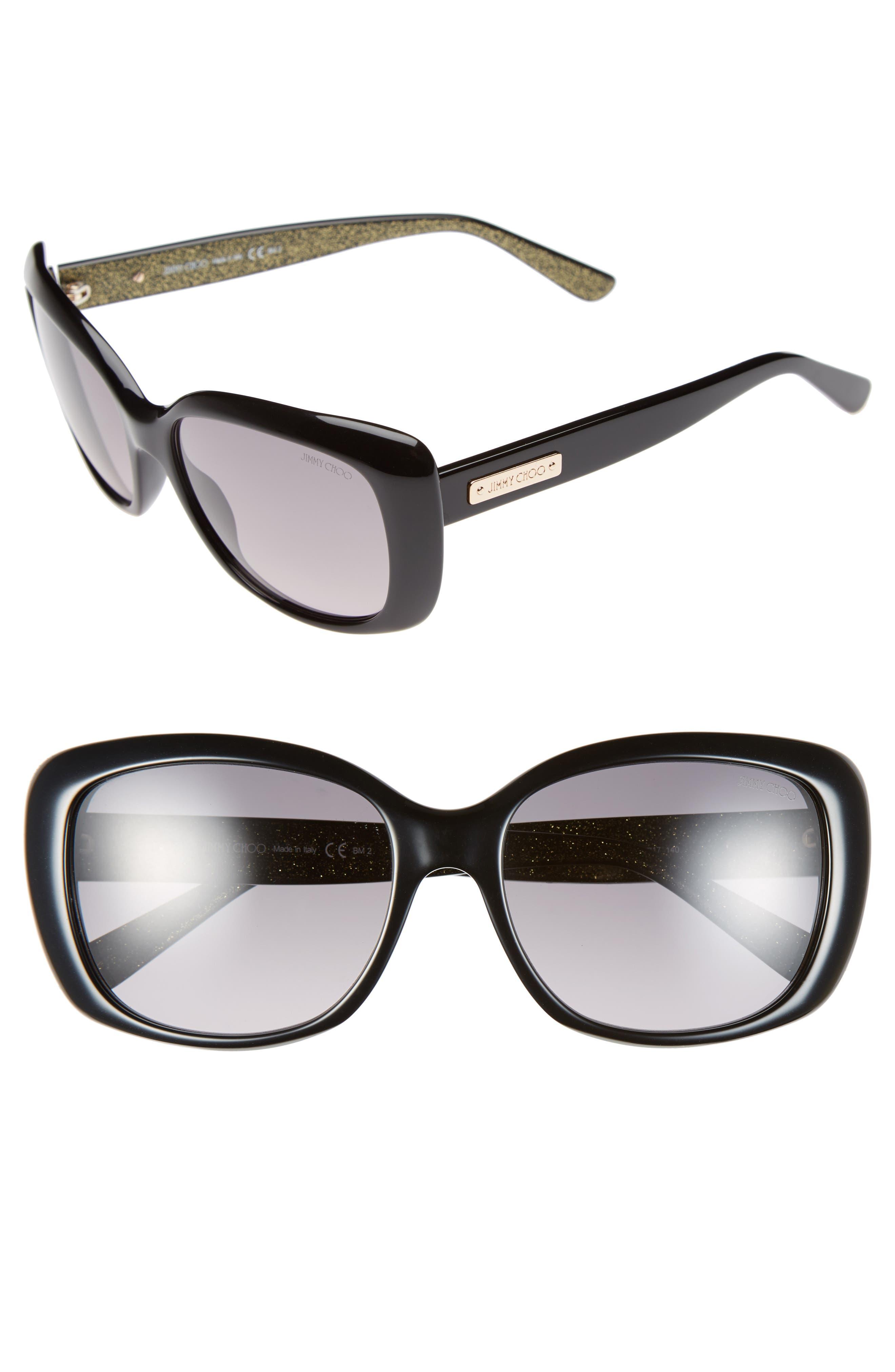 56mm Sunglasses,                             Alternate thumbnail 3, color,                             001