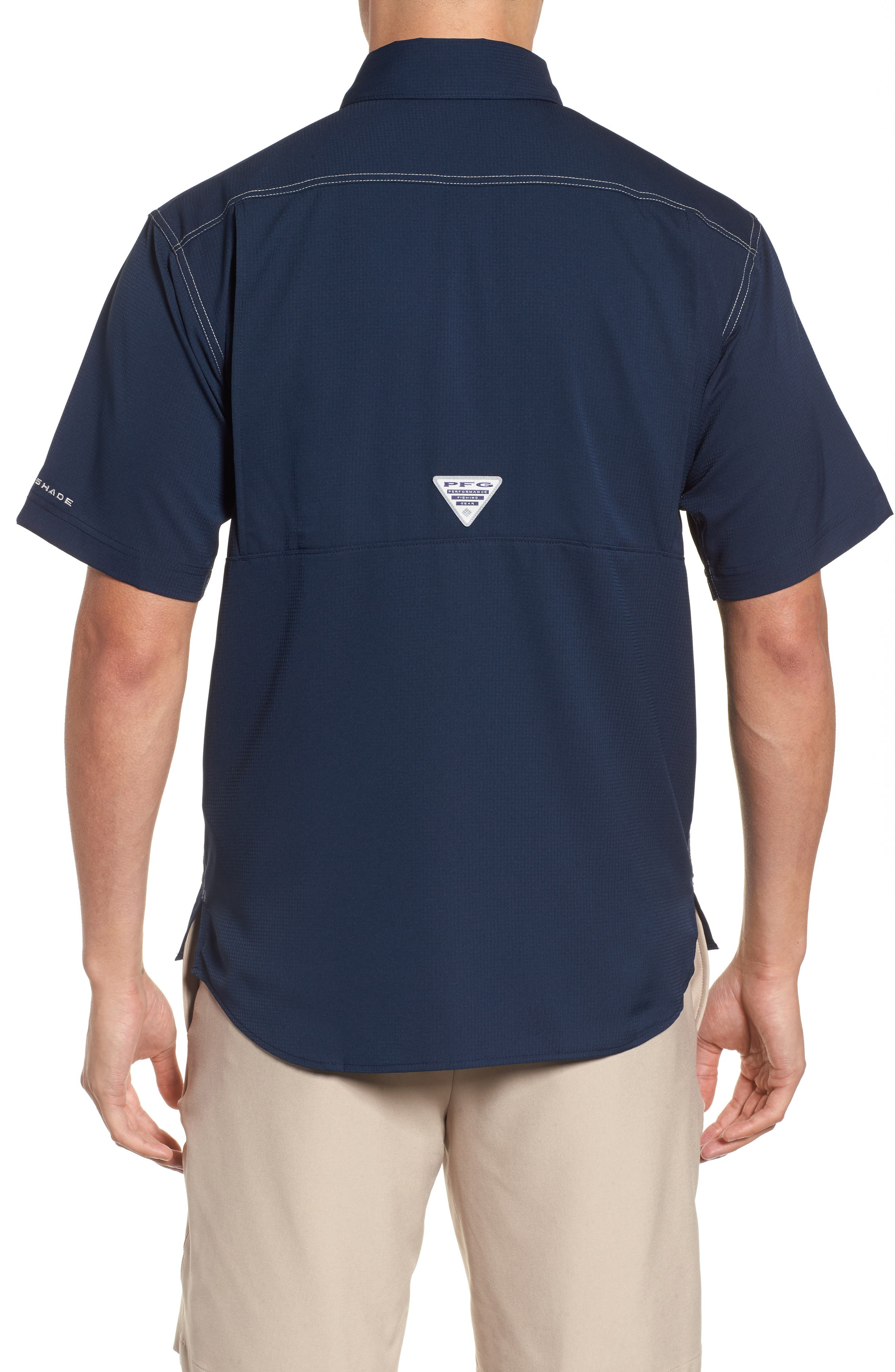 PFG Low Drag Offshore Woven Shirt,                             Alternate thumbnail 7, color,