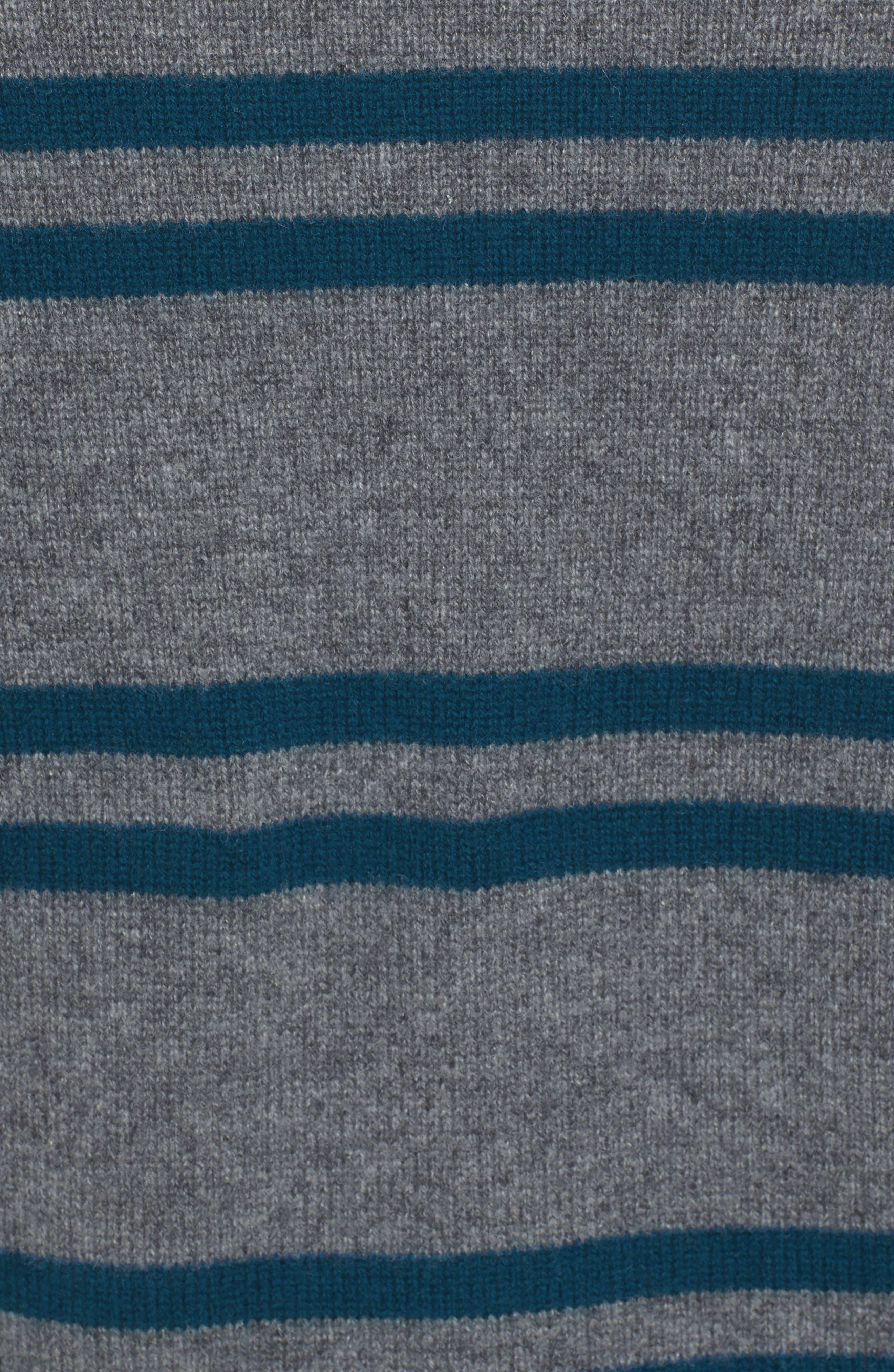 Stripe Cashmere Sweatshirt,                             Alternate thumbnail 5, color,                             453