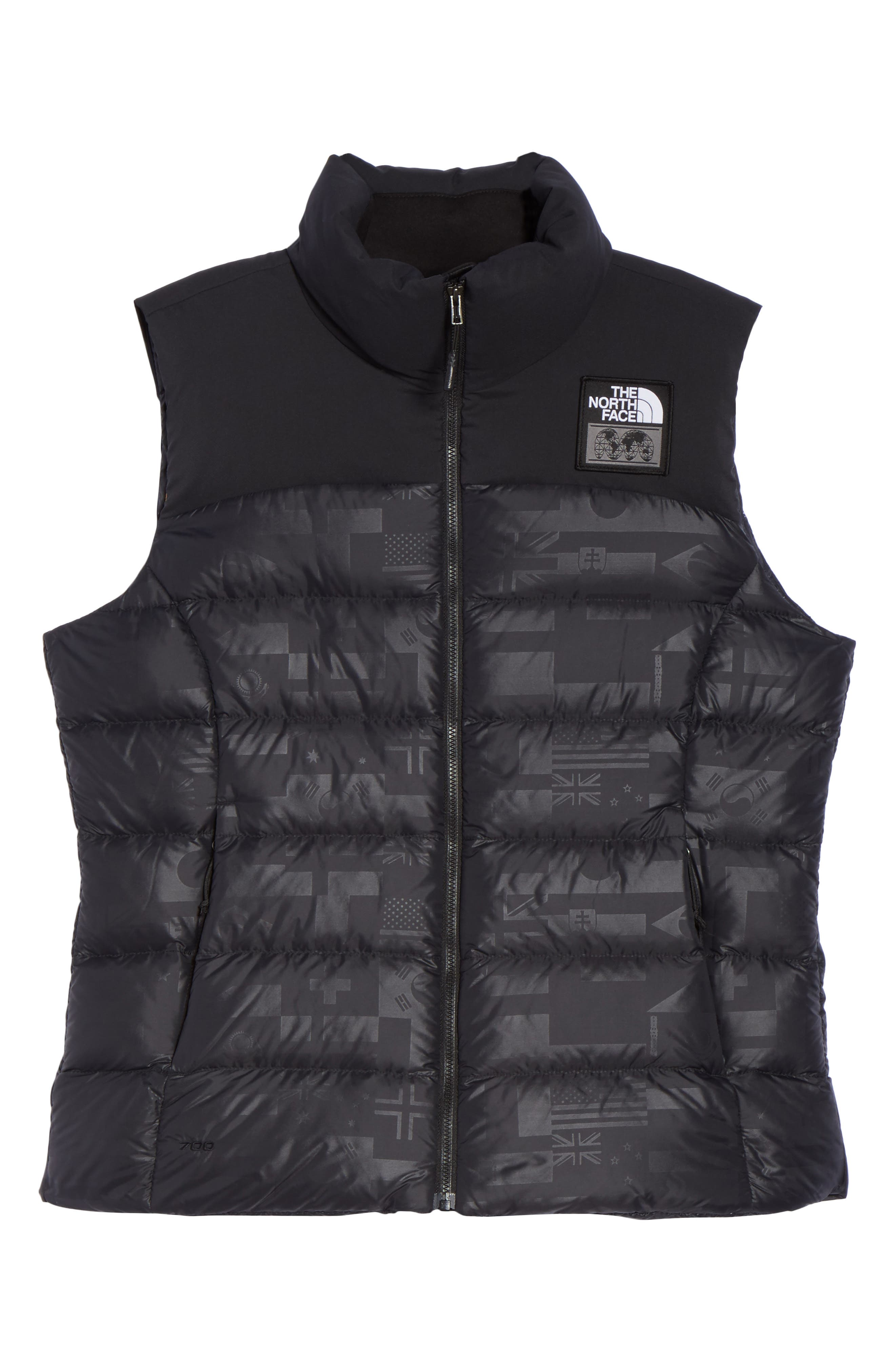 International Collection Nuptse 700-Fill Power Down Puffer Vest,                             Alternate thumbnail 6, color,                             001