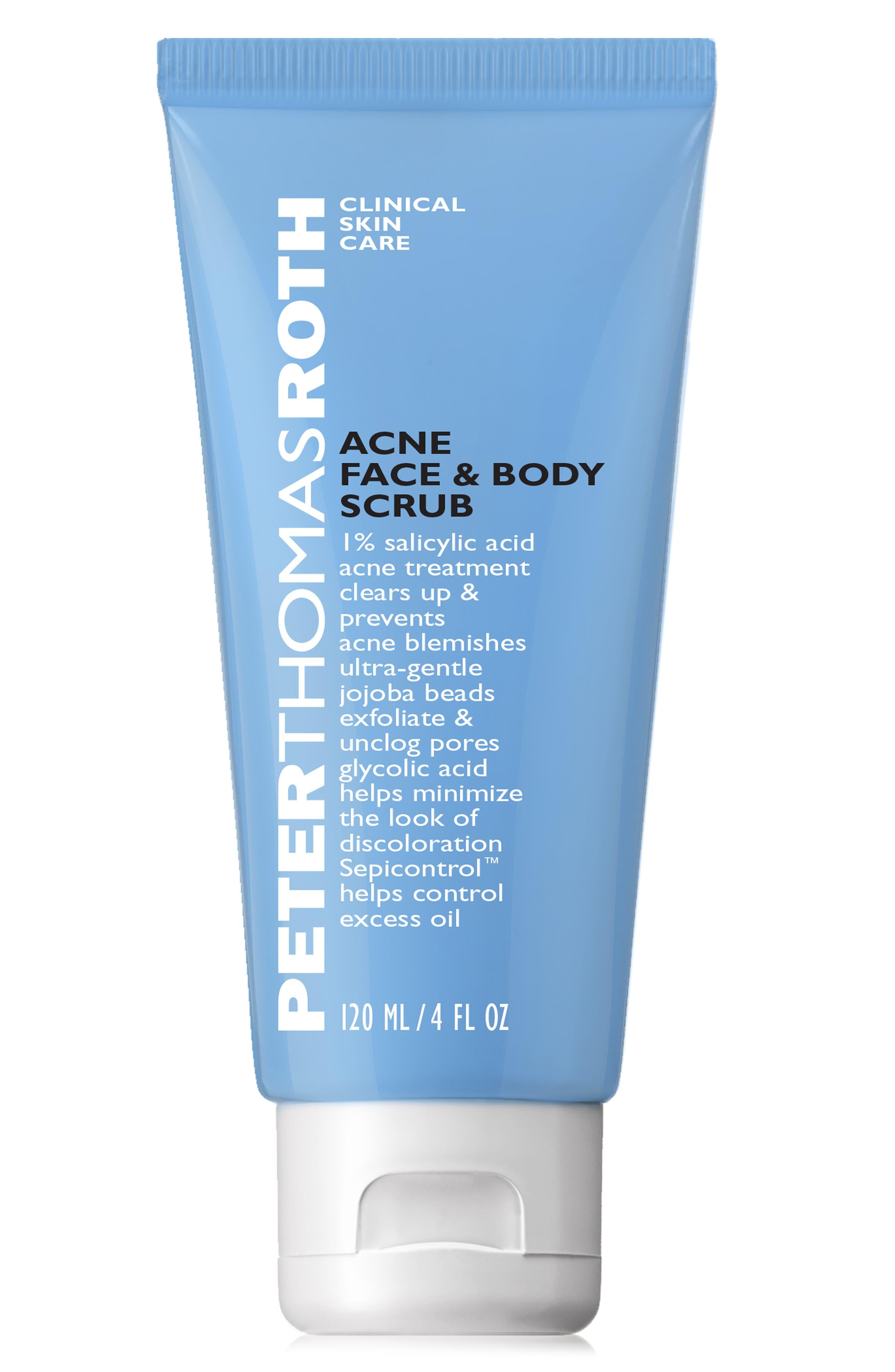 Acne Face & Body Scrub,                         Main,                         color, NO COLOR