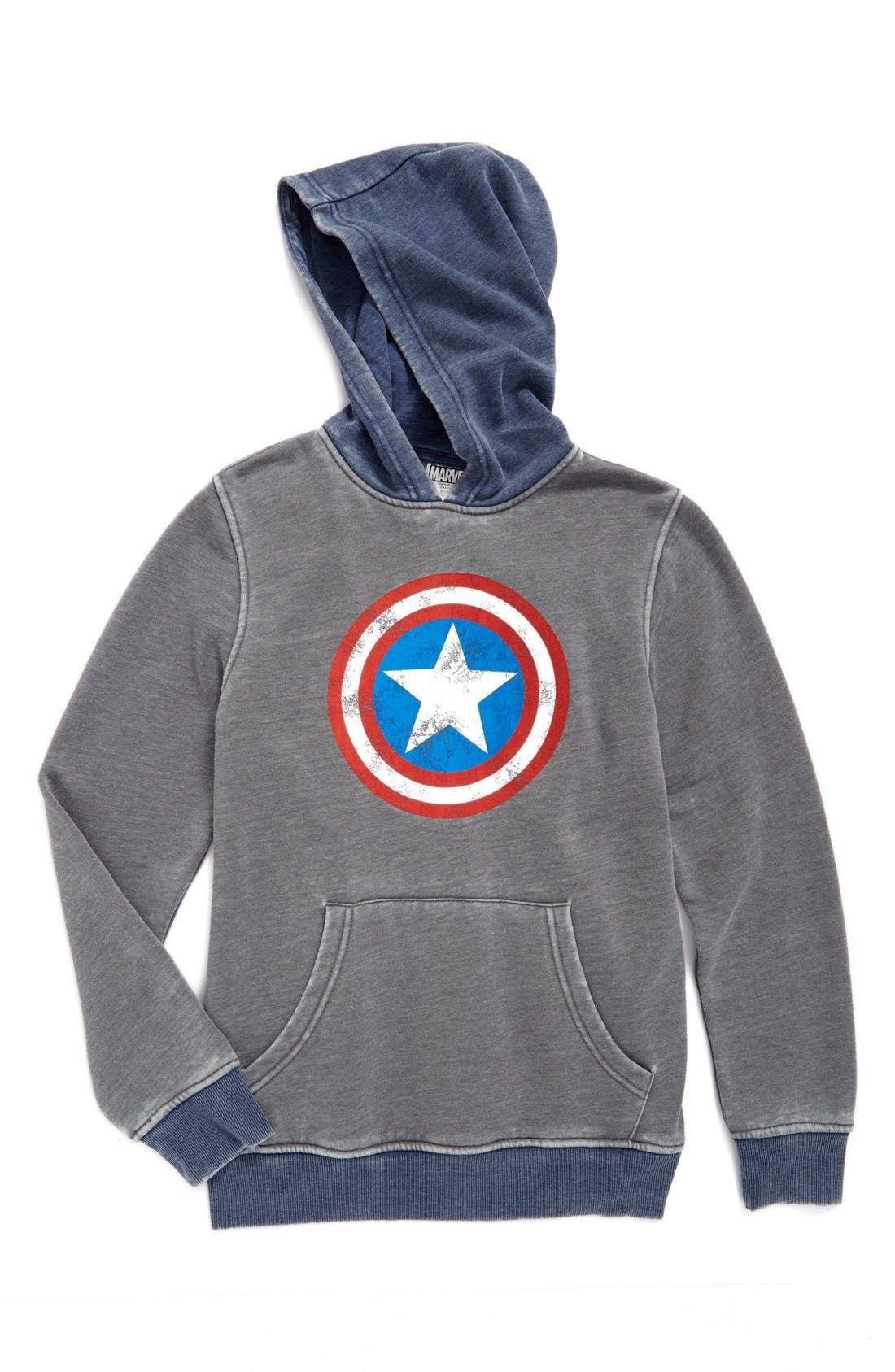 'Captain America - Star Shield' Graphic Hoodie, Main, color, 030