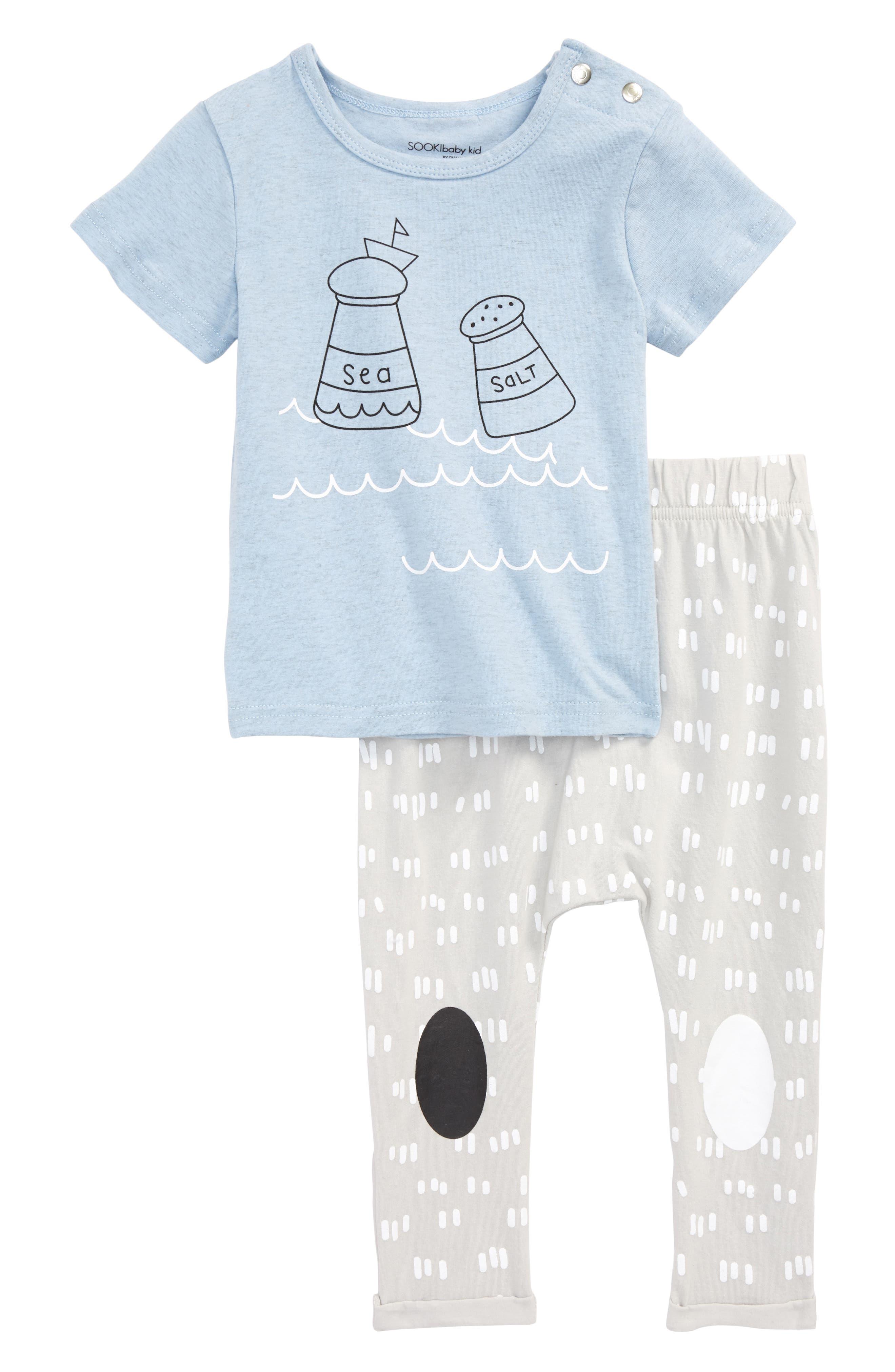 Sea-Salt T-Shirt & Leggings Set,                             Main thumbnail 1, color,                             499