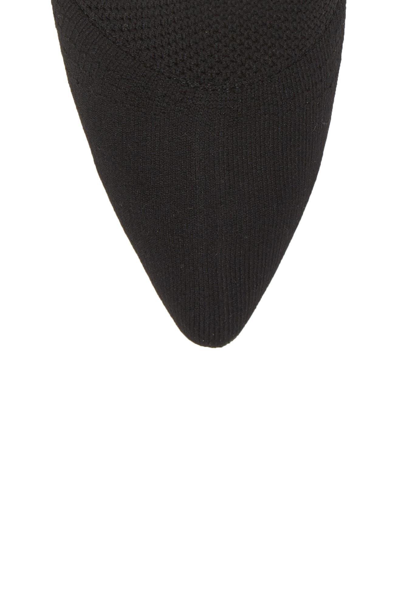 Acadia 2 Sock Bootie,                             Alternate thumbnail 5, color,                             BLACK WOVEN