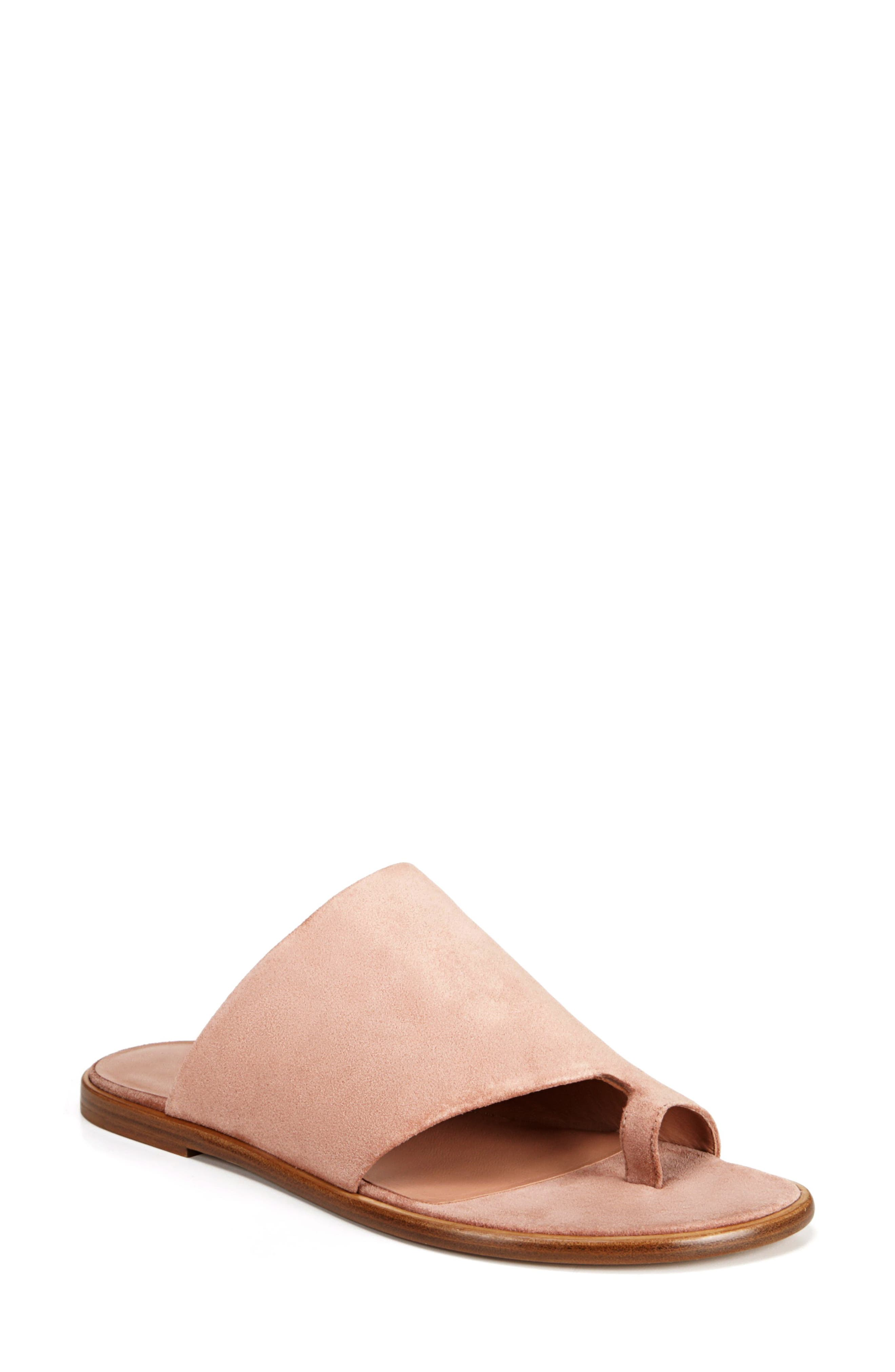 Edris Toe Loop Sandal,                         Main,                         color, BLUSH