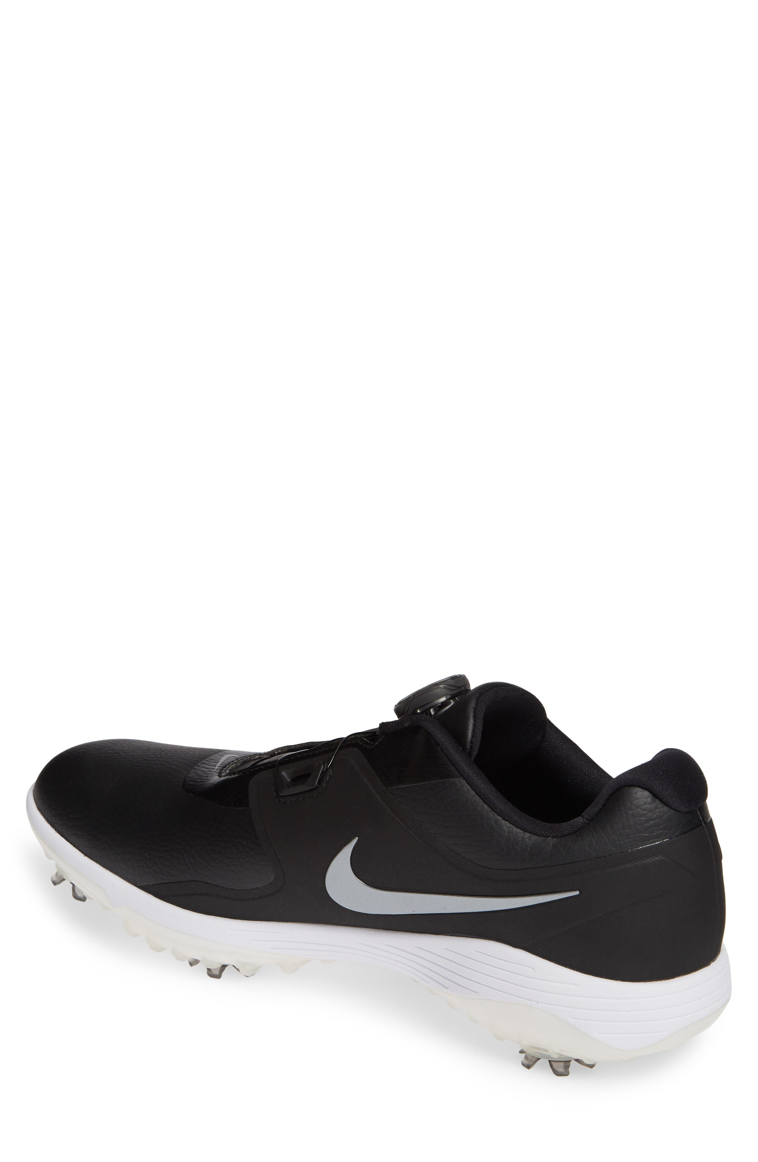 NIKE,                             Vapor Pro BOA Waterproof Golf Shoe,                             Alternate thumbnail 2, color,                             BLACK/ COOL GREY/ WHITE