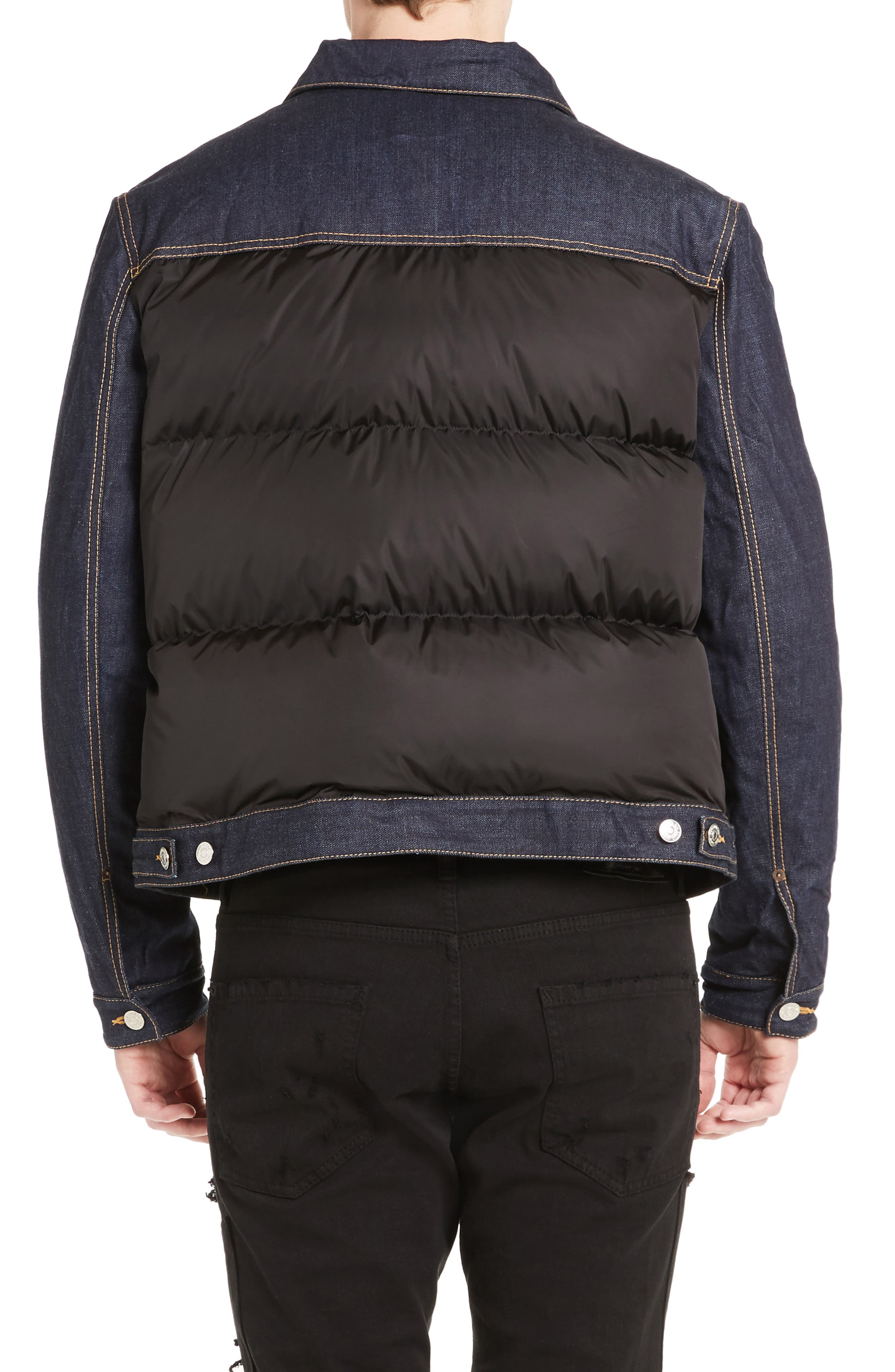 Mixed Media Quilted Denim Jacket,                             Alternate thumbnail 2, color,                             008