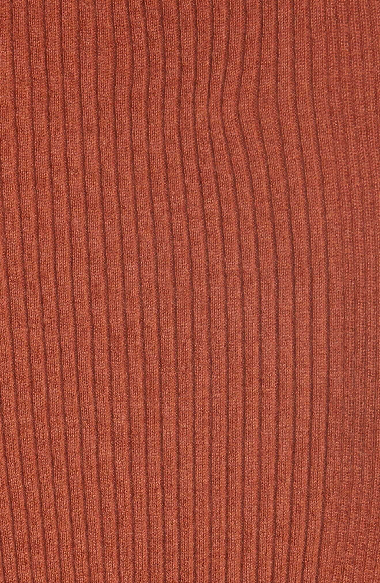 Taylor Ribbed Cashmere Sweater,                             Alternate thumbnail 5, color,                             DESERT SPICE