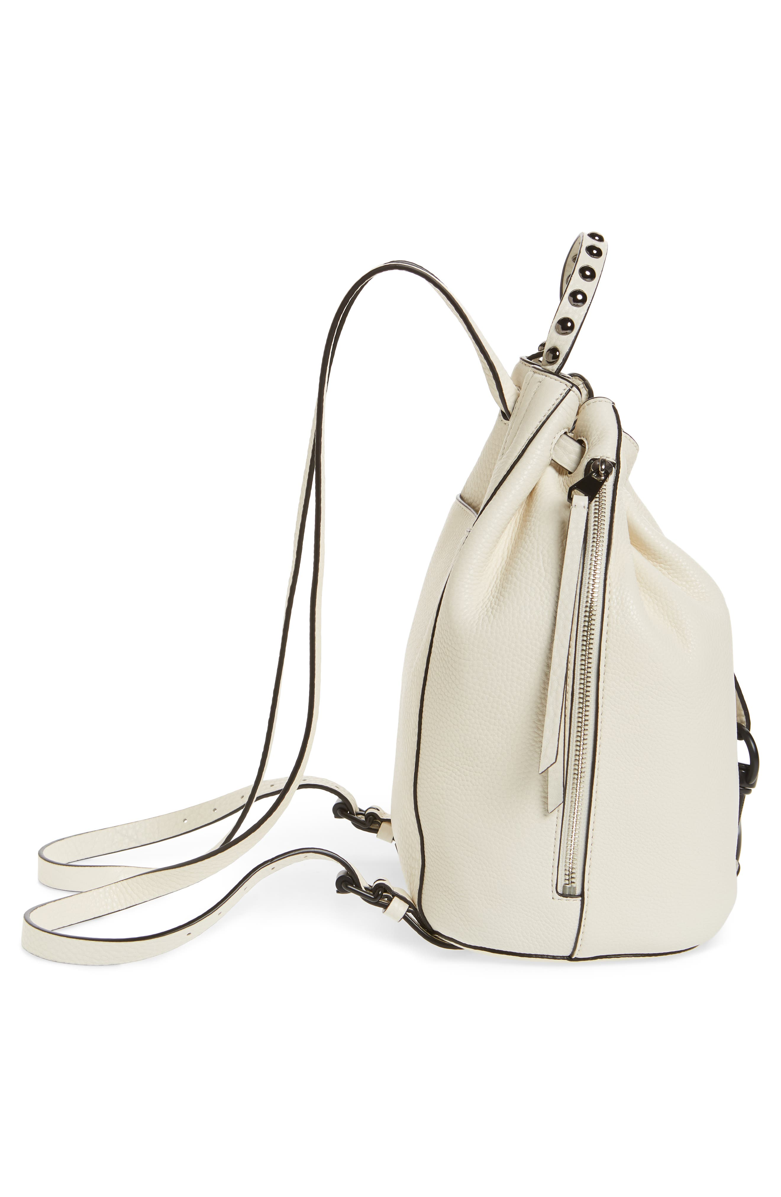 Blythe Leather Backpack,                             Alternate thumbnail 5, color,                             ANTIQUE WHITE