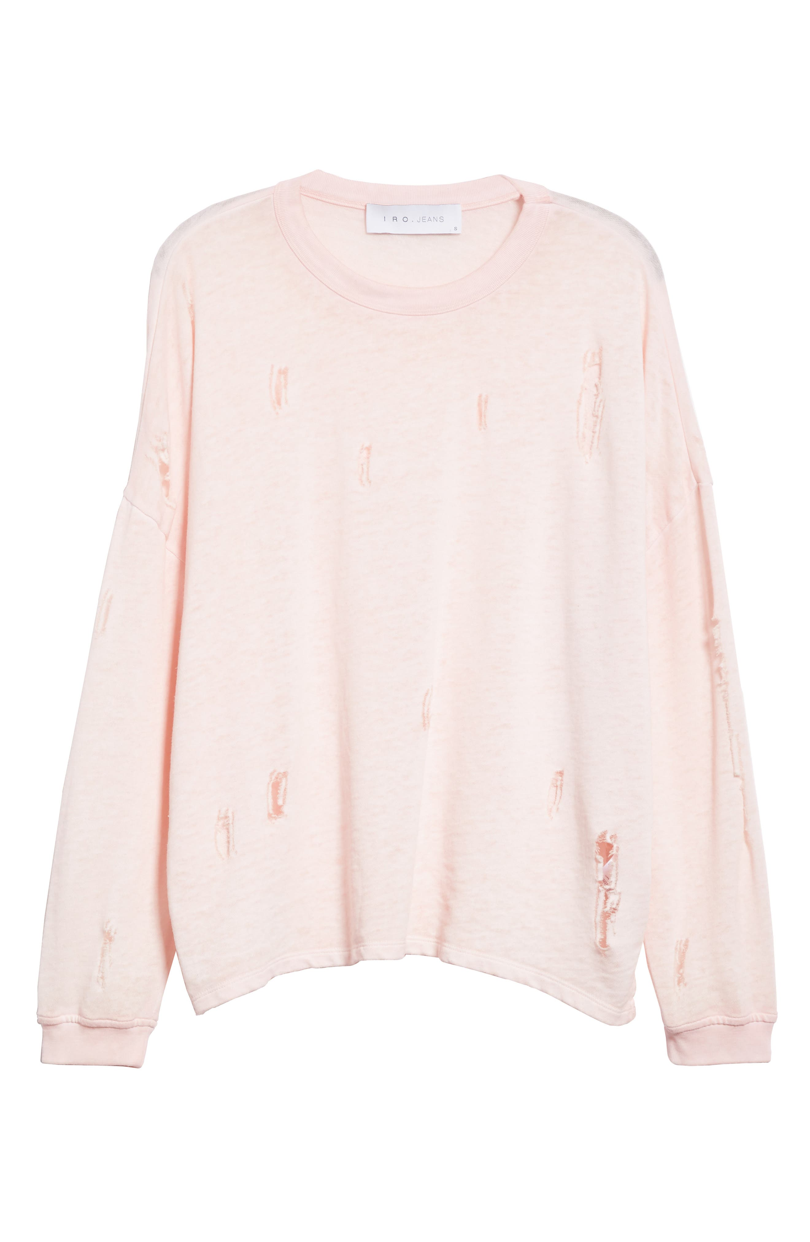 Lyzza Distressed Sweatshirt,                             Alternate thumbnail 6, color,                             680