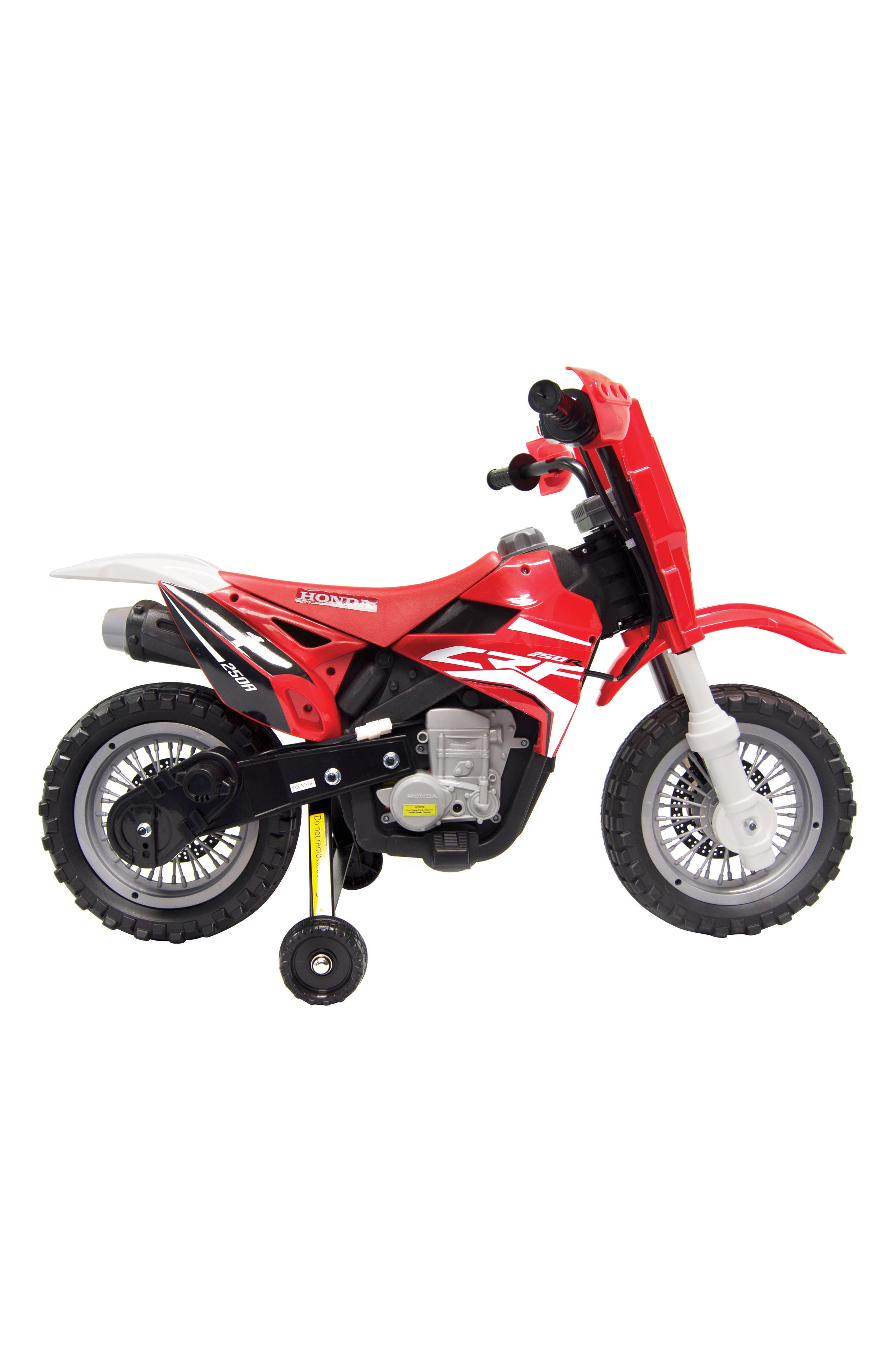 Honda Dirt Bike Ride-On Toy Motorcycle,                             Alternate thumbnail 3, color,                             RED