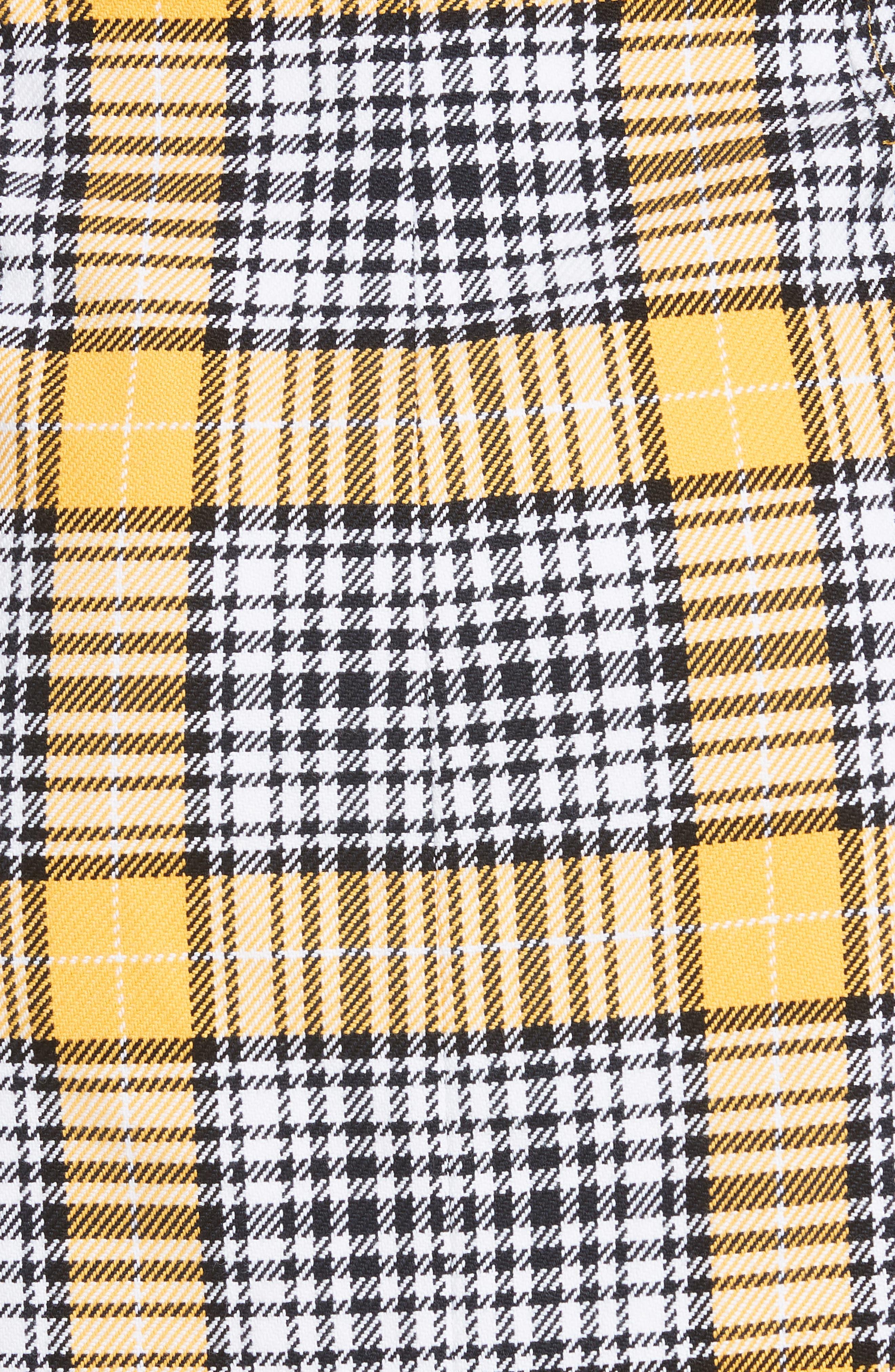 Monroe Plaid Miniskirt,                             Alternate thumbnail 5, color,                             YELLOW