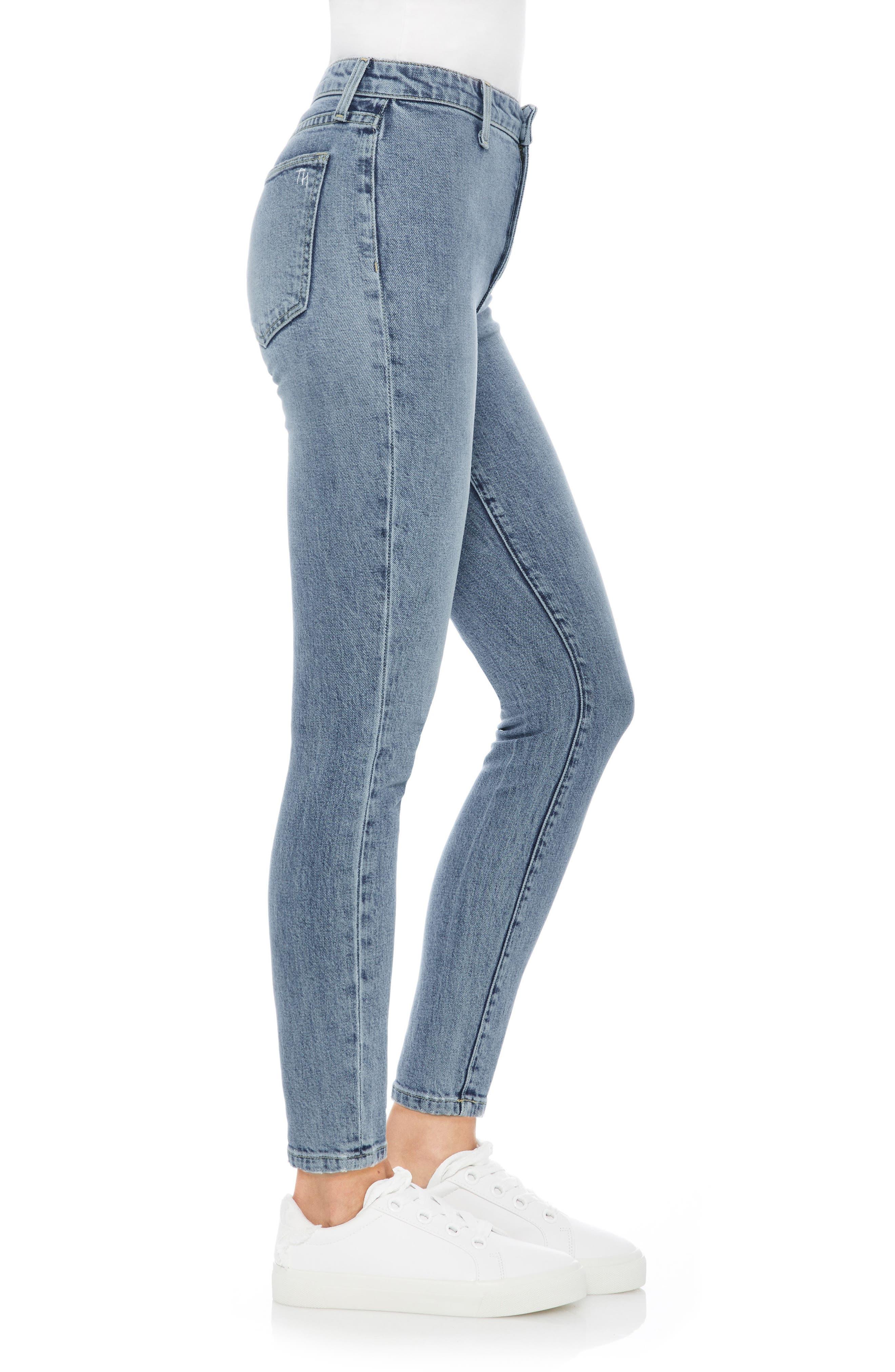 Charlie High Waist Ankle Skinny Jeans,                             Alternate thumbnail 3, color,                             415