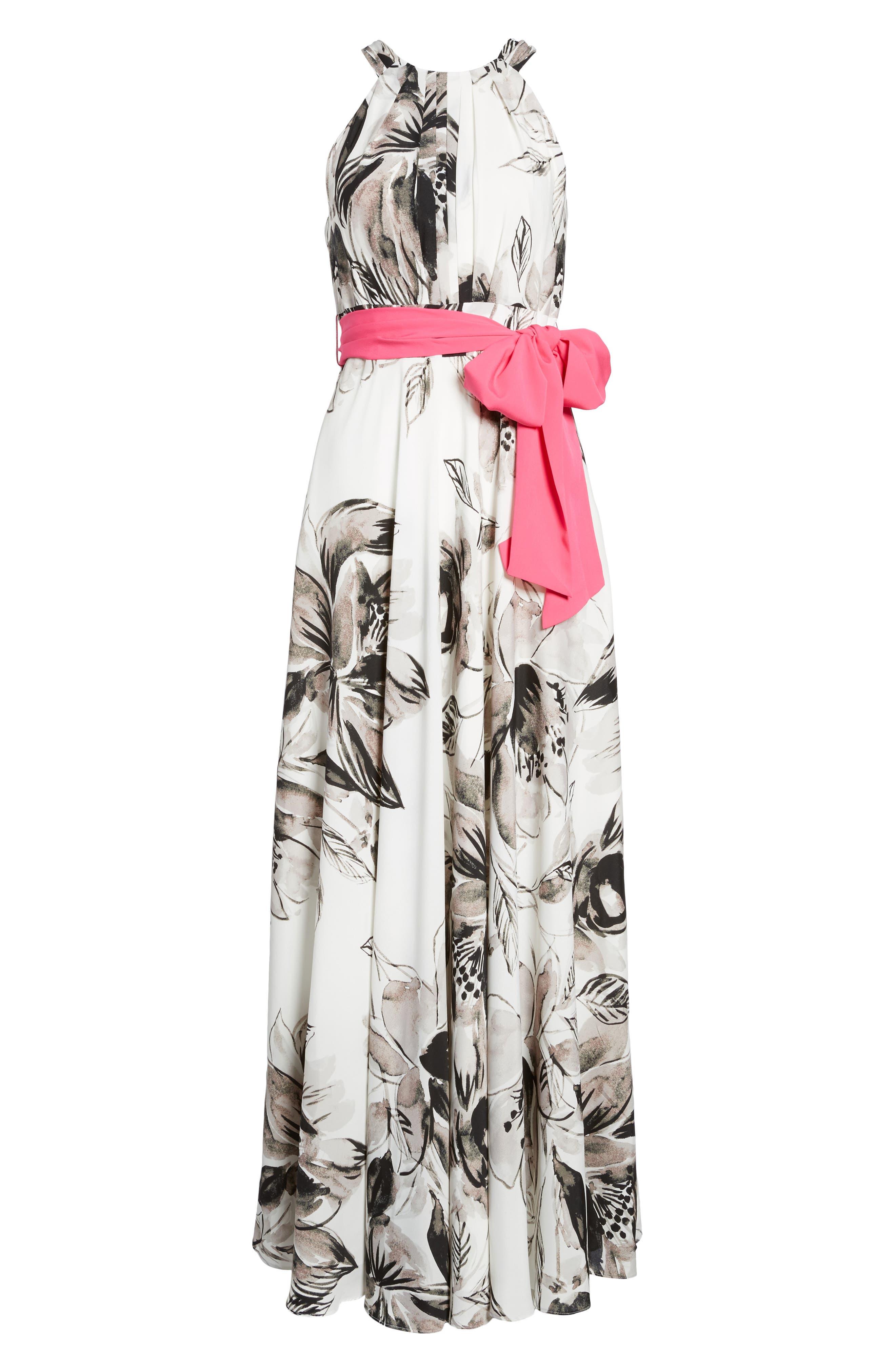 Chiffon Maxi Dress,                             Alternate thumbnail 7, color,                             011