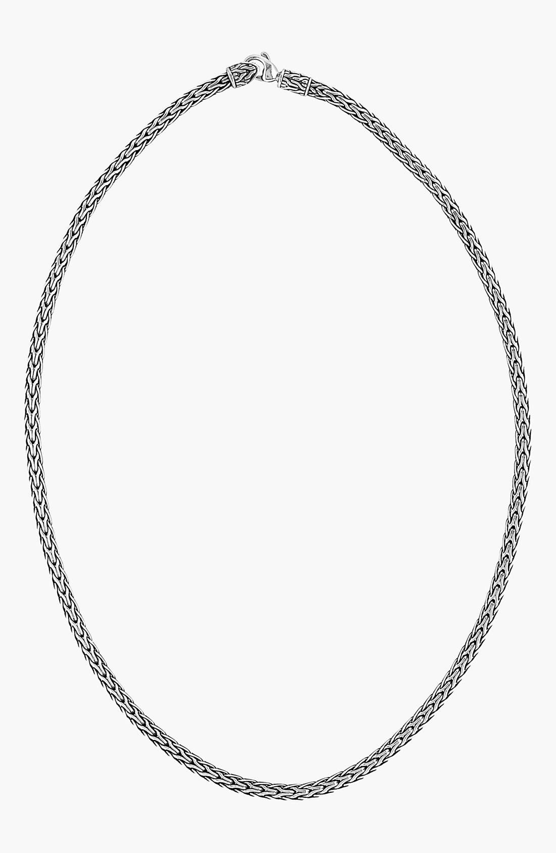 'Classic Chain' Slim Necklace,                             Main thumbnail 1, color,                             SILVER