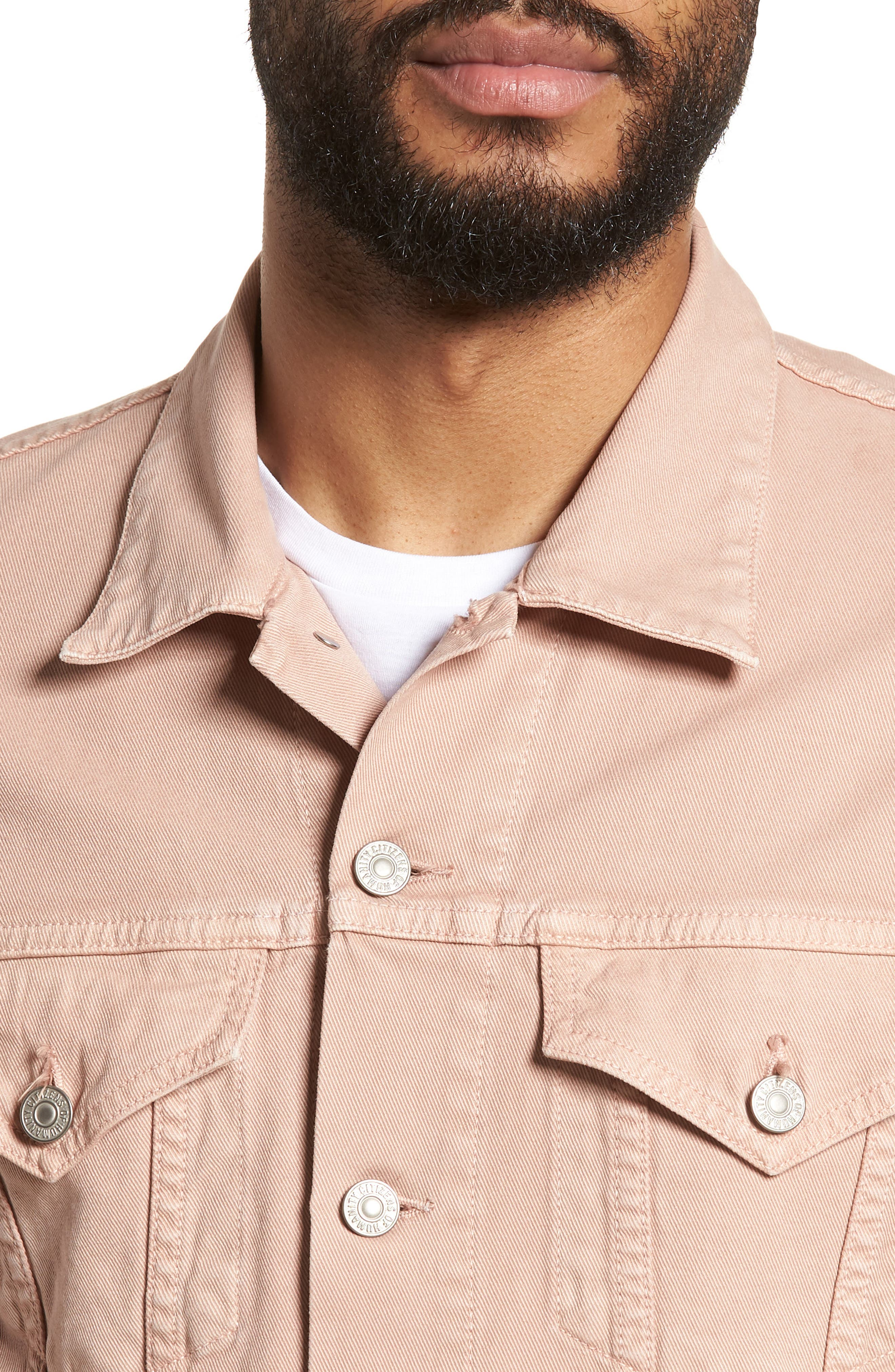 Classic Denim Jacket,                             Alternate thumbnail 4, color,                             250