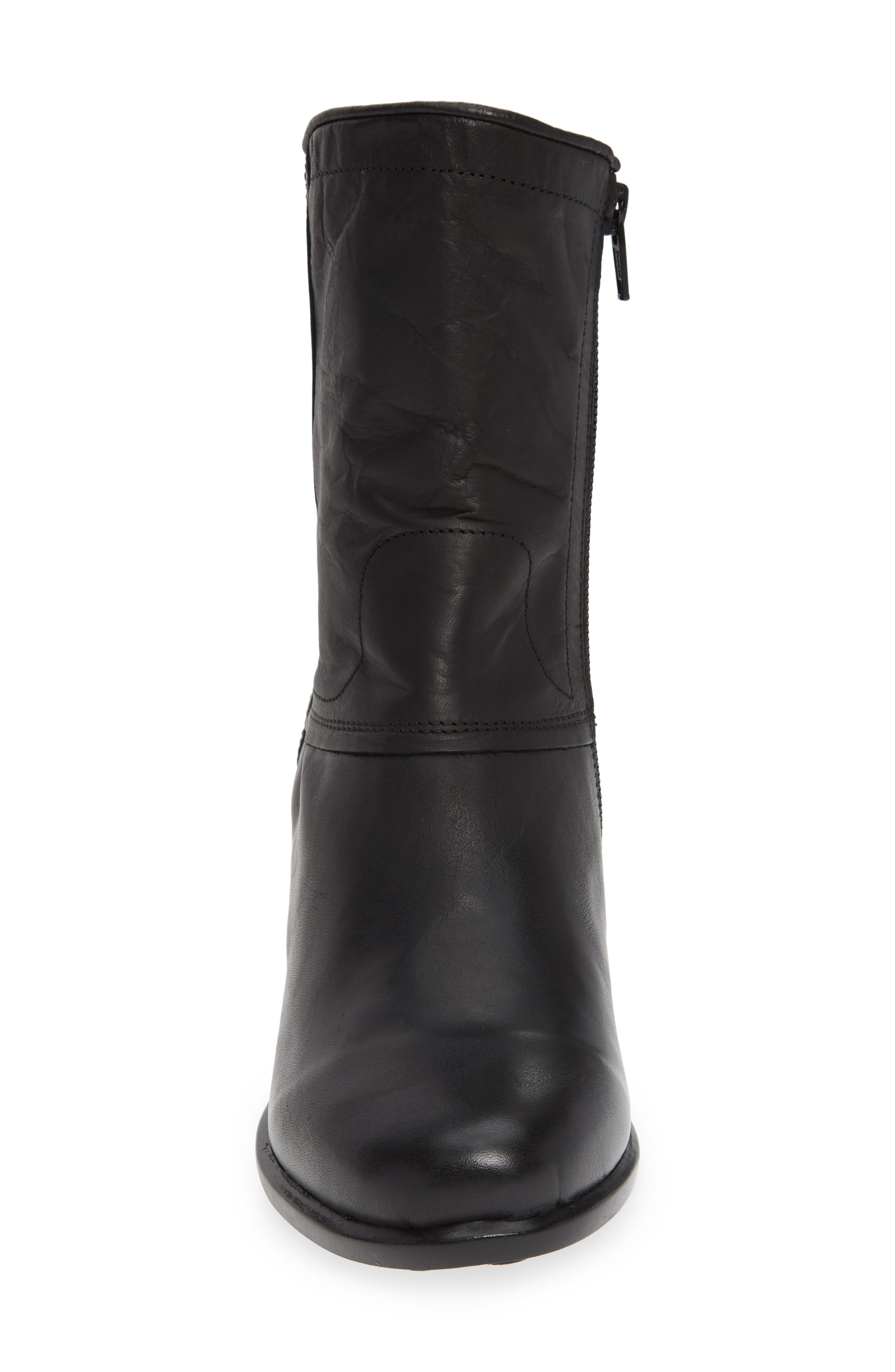 Ital Slightly Slouchy Bootie,                             Alternate thumbnail 4, color,                             BLACK