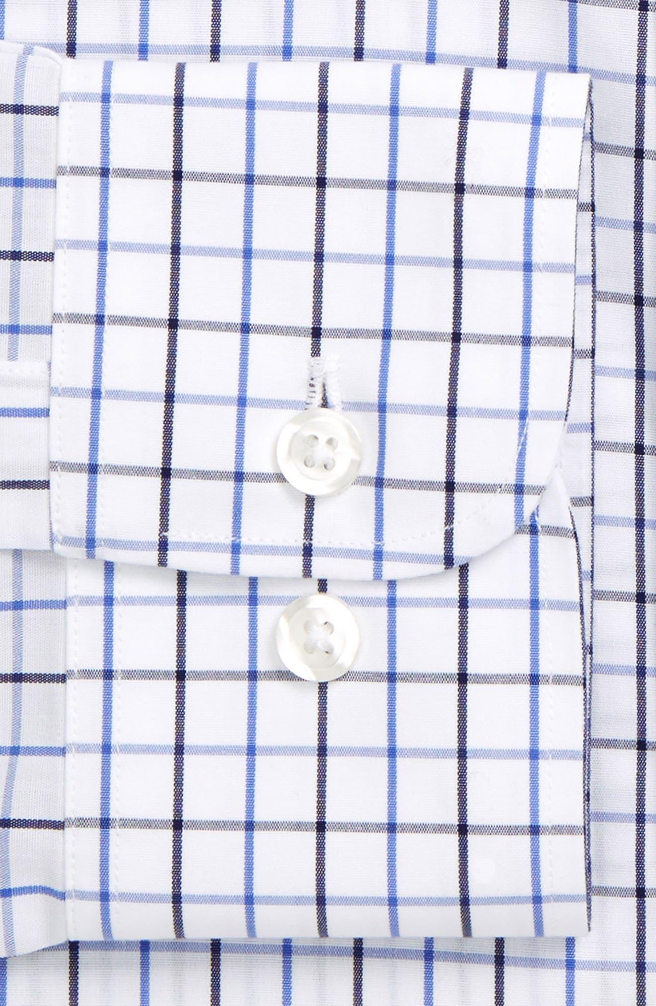 Slim Fit Wrinkle Free Check Dress Shirt,                             Alternate thumbnail 4, color,                             400