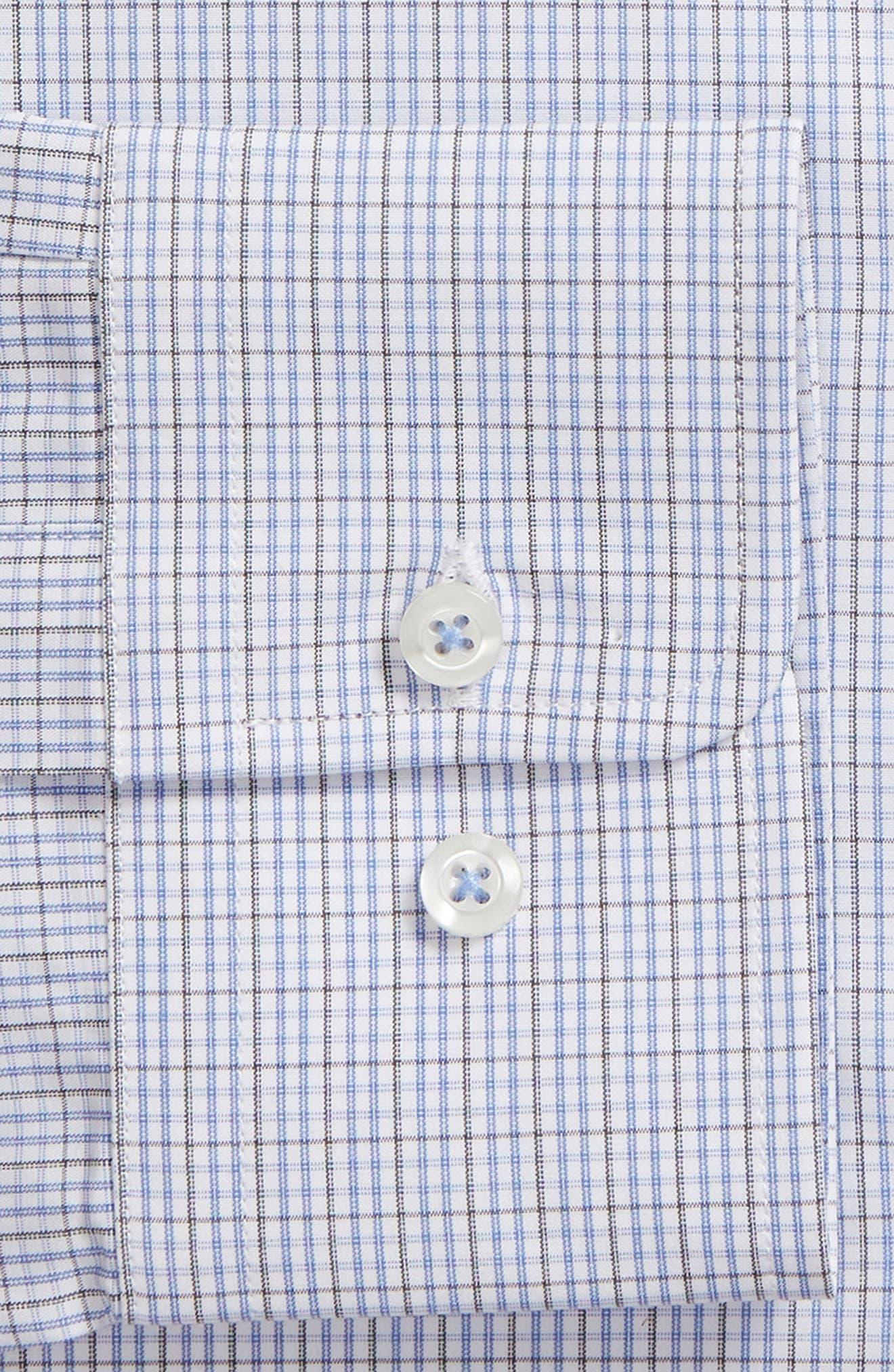 Regular Fit Check Dress Shirt,                             Alternate thumbnail 6, color,                             020
