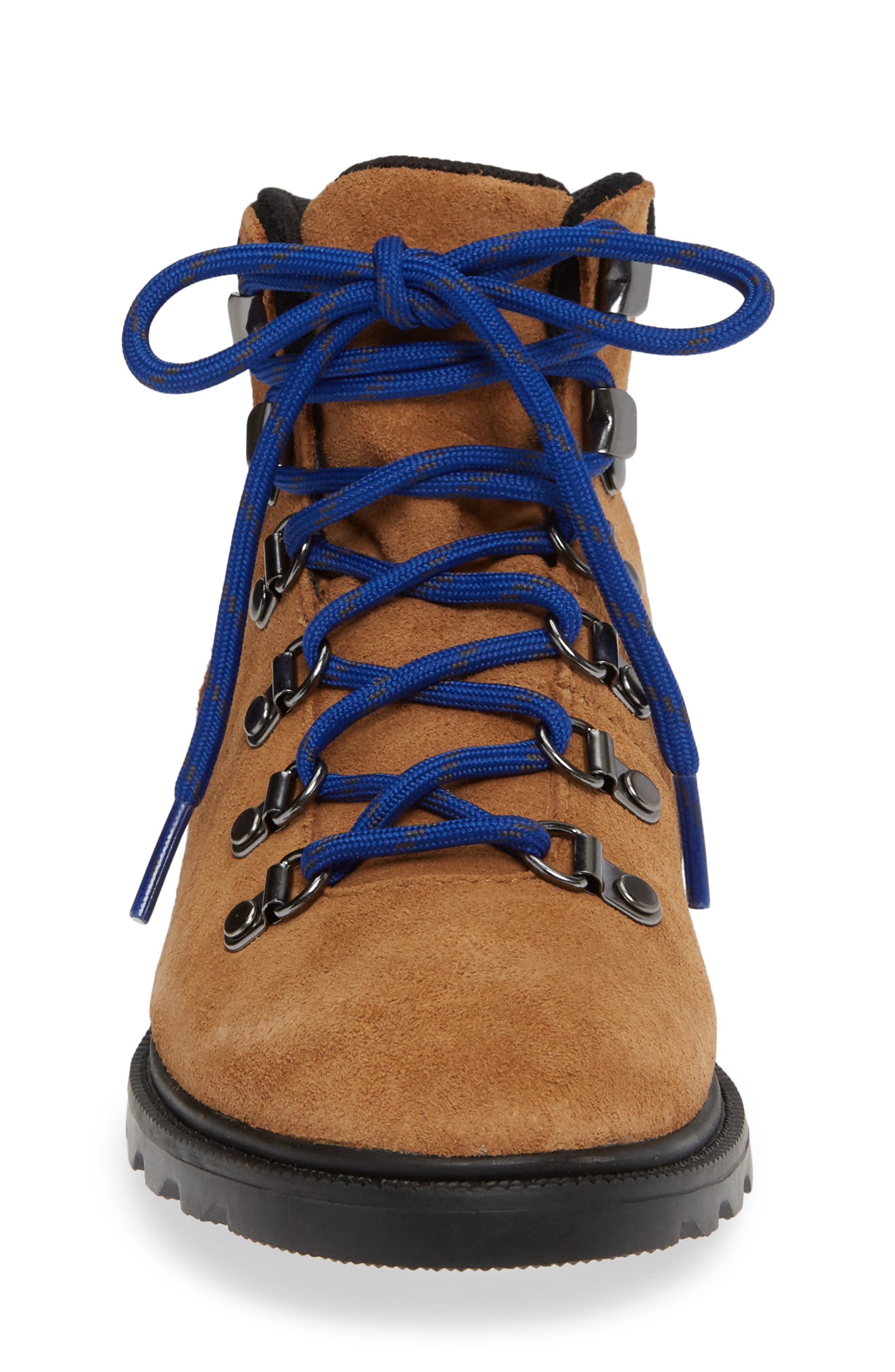 Madison Waterproof Hiker Boot,                             Alternate thumbnail 4, color,                             CAMEL BROWN/ BLACK
