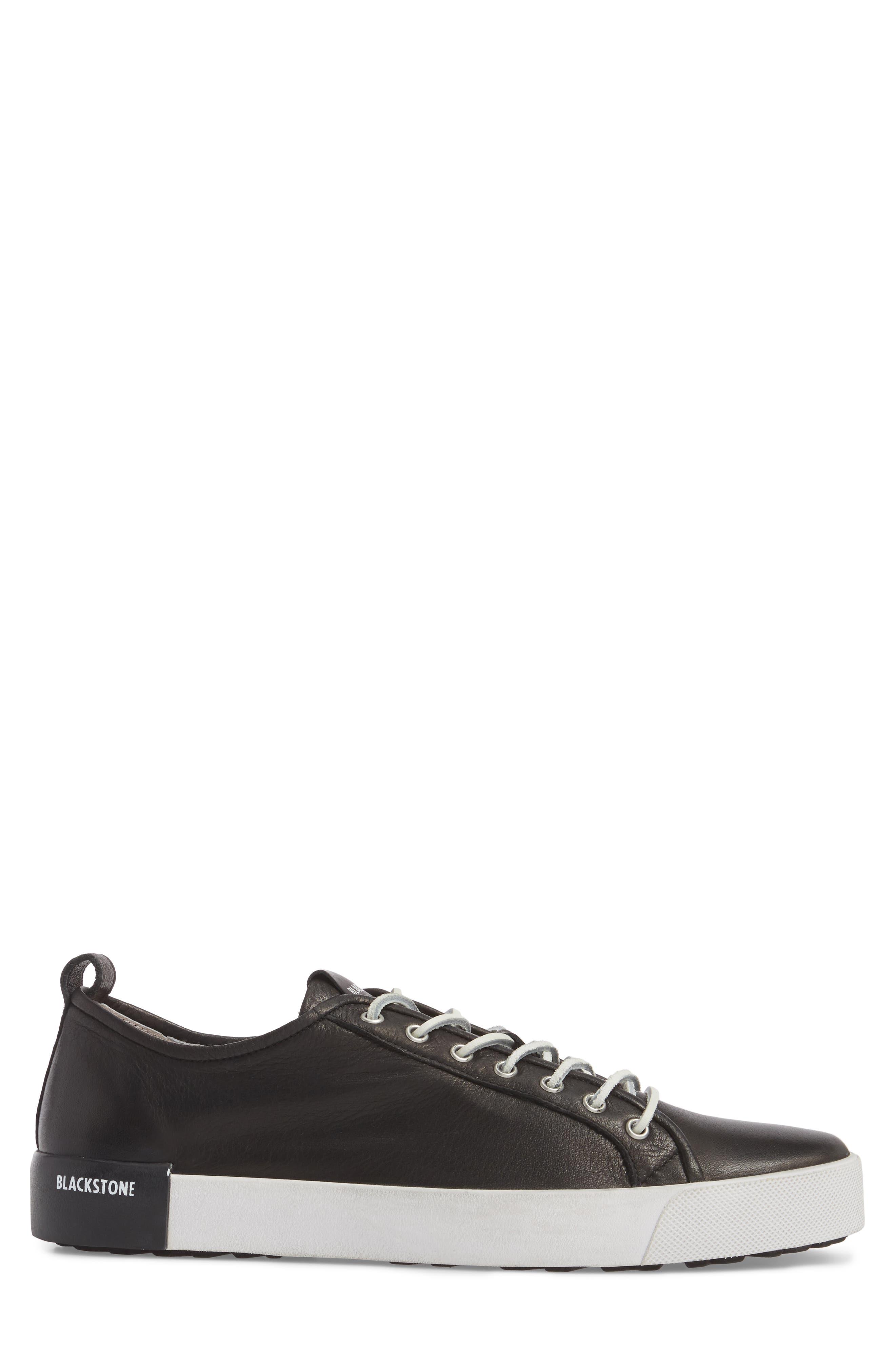 PM66 Low Top Sneaker,                             Alternate thumbnail 3, color,                             BLACK LEATHER