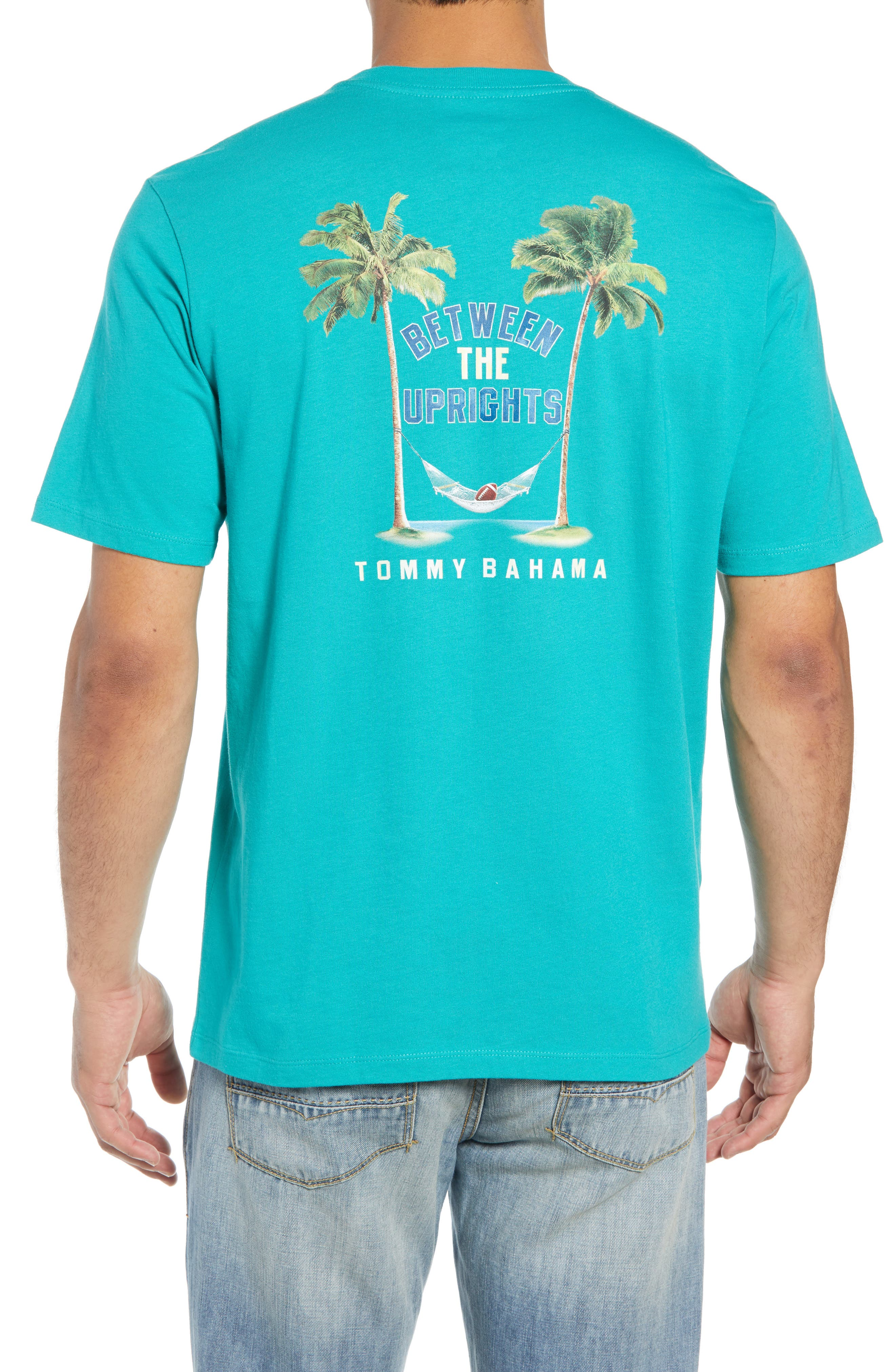 Between the Uprights Graphic T-Shirt,                             Alternate thumbnail 2, color,                             GULF SHORE