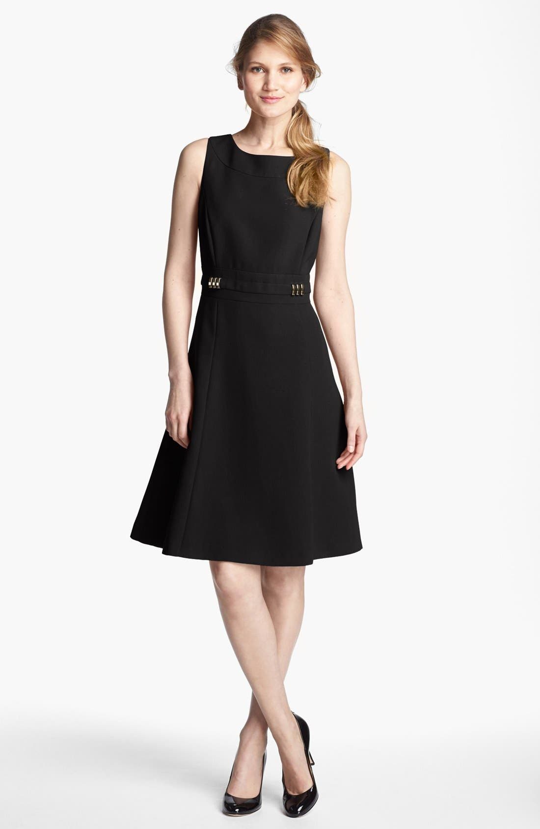 Fit & Flare Dress,                             Main thumbnail 1, color,                             001
