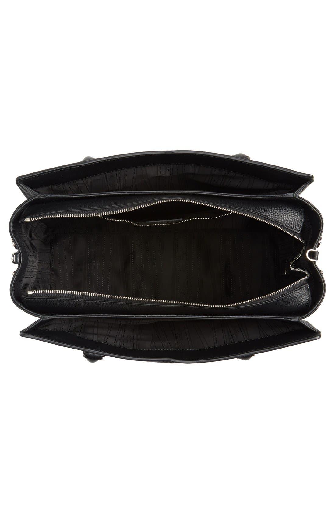 Medium Saffiano Leather Tote,                             Alternate thumbnail 2, color,                             001
