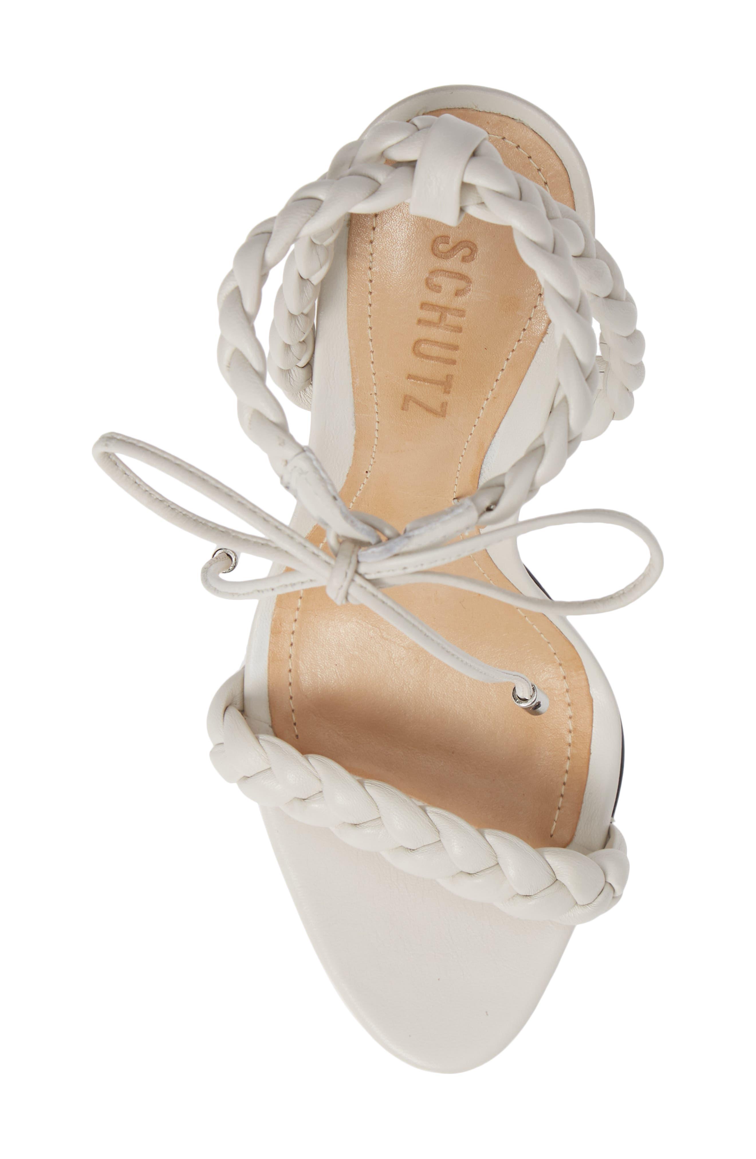 Lainna Braided Strap Sandal,                             Alternate thumbnail 5, color,                             PEARL