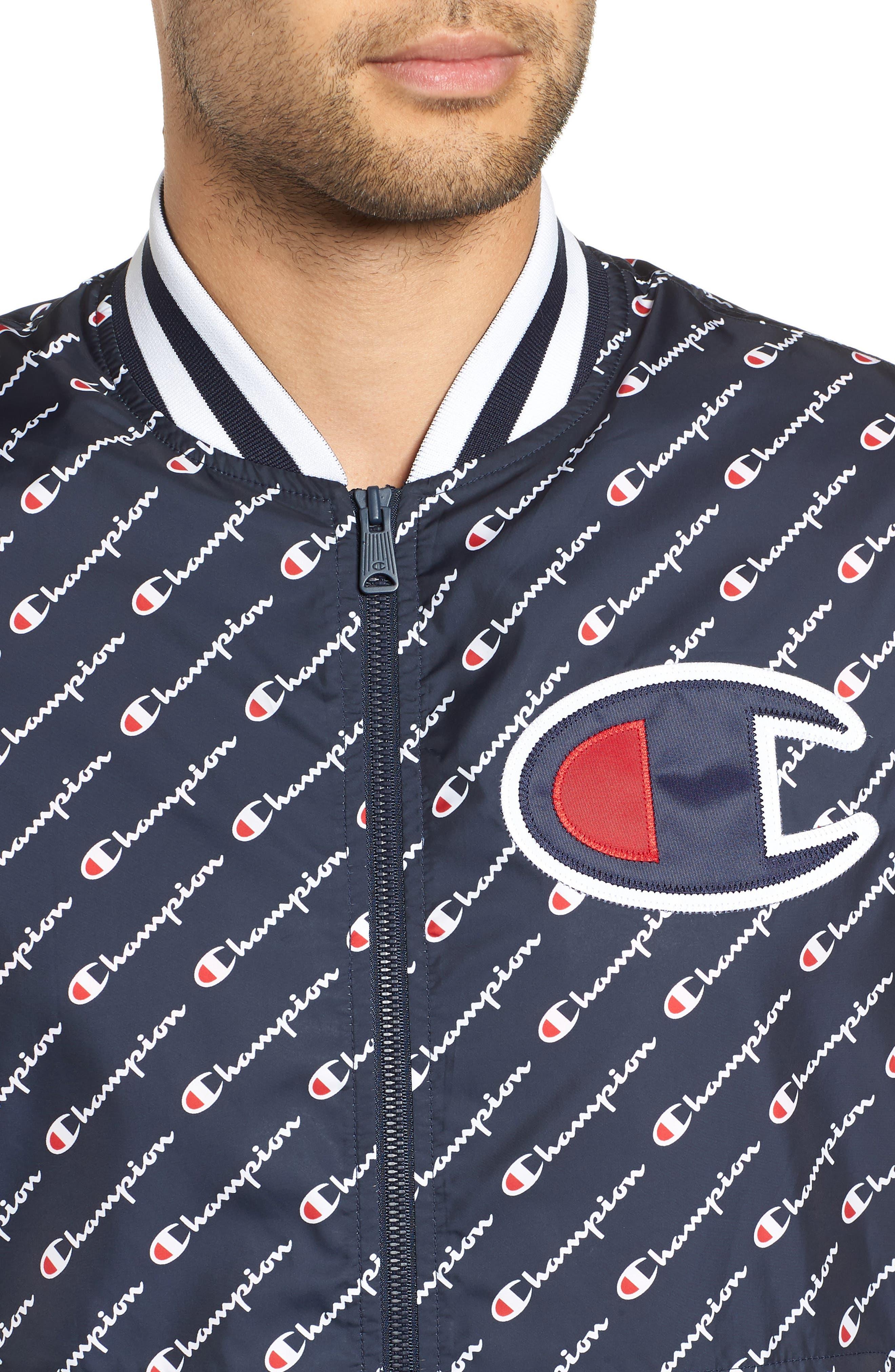 Print Baseball Jacket,                             Alternate thumbnail 7, color,