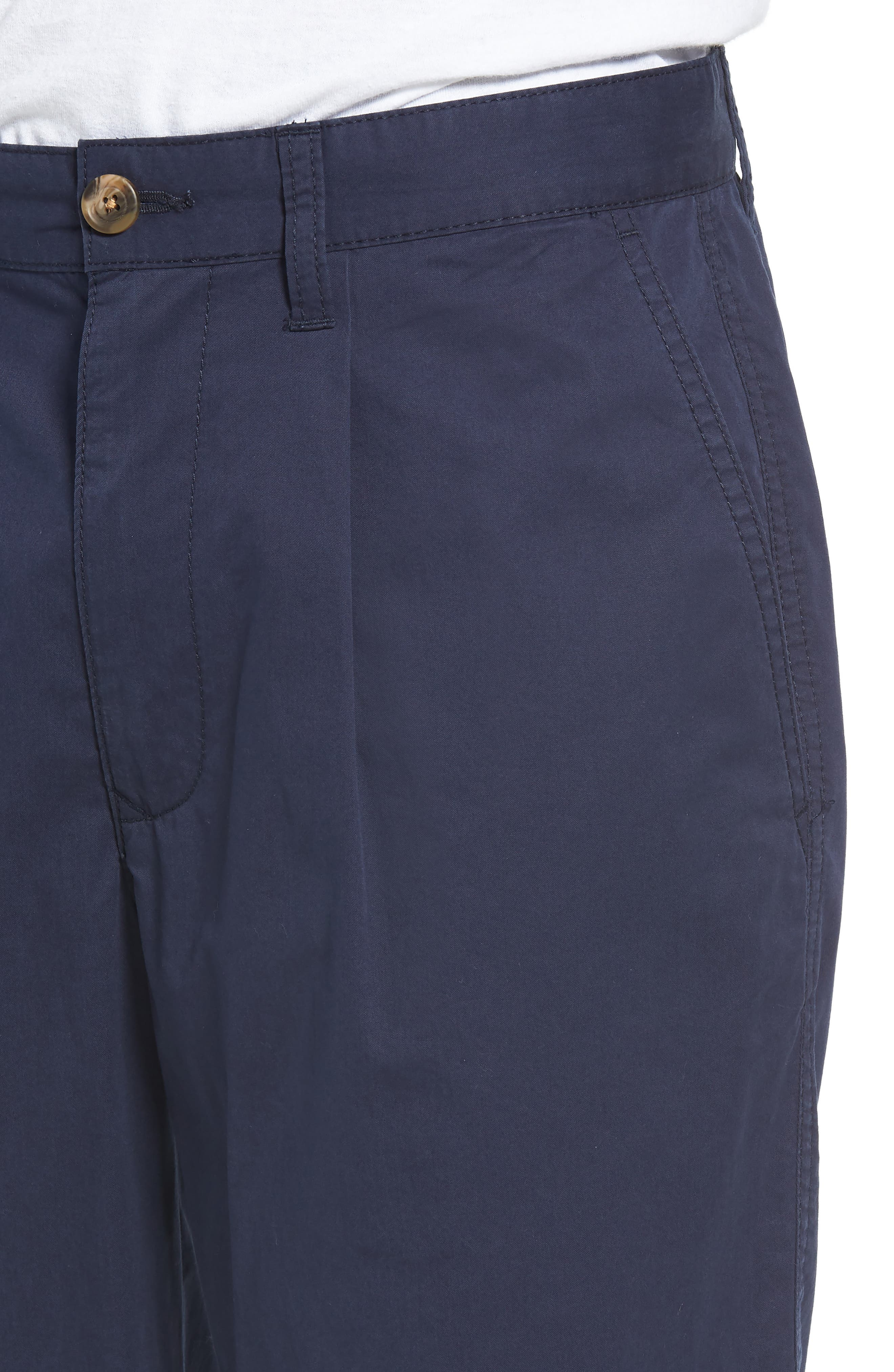 Pleated Chino Shorts,                             Alternate thumbnail 4, color,                             410