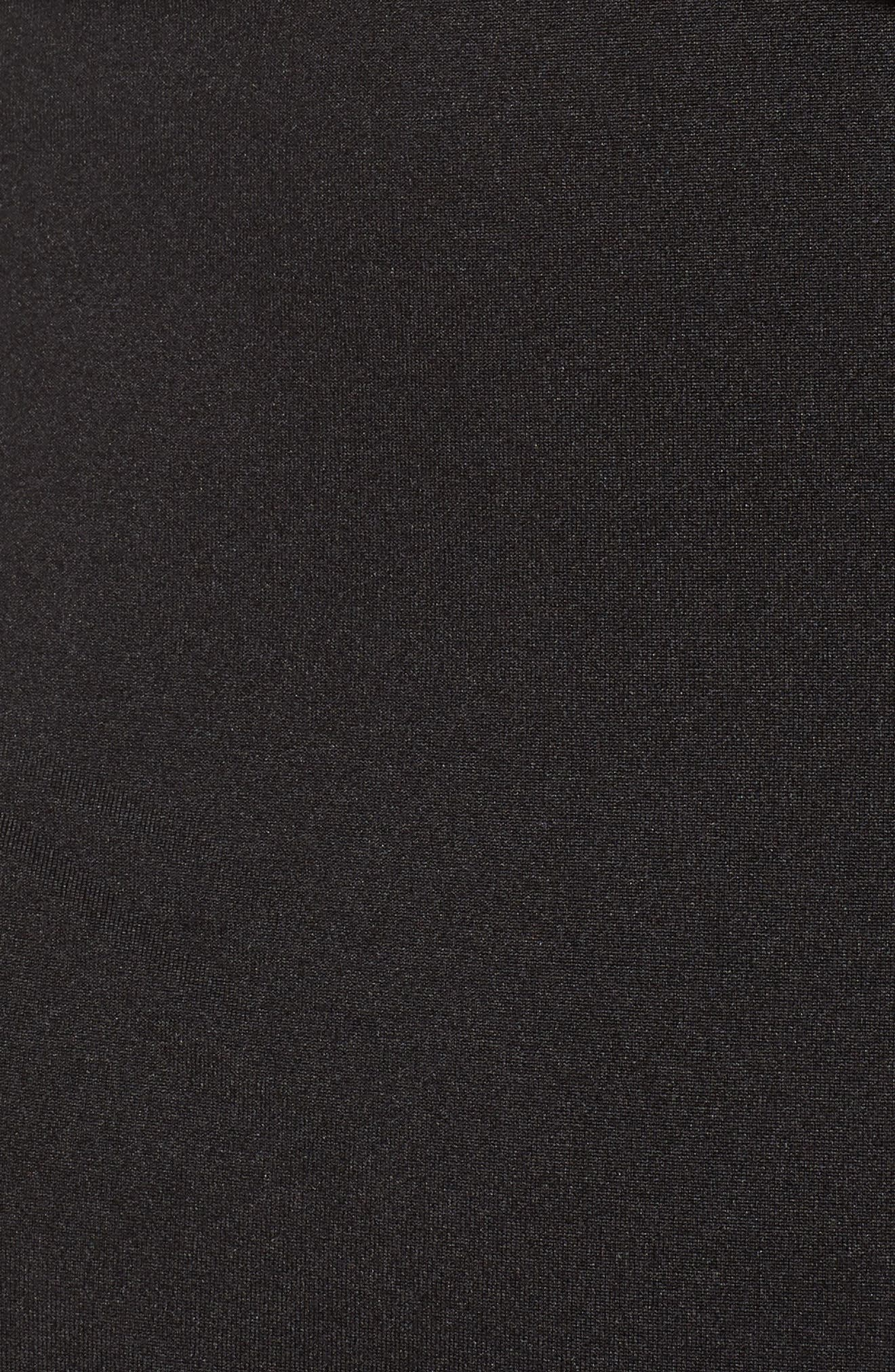 Ruffle Trim Bodysuit,                             Alternate thumbnail 5, color,                             001