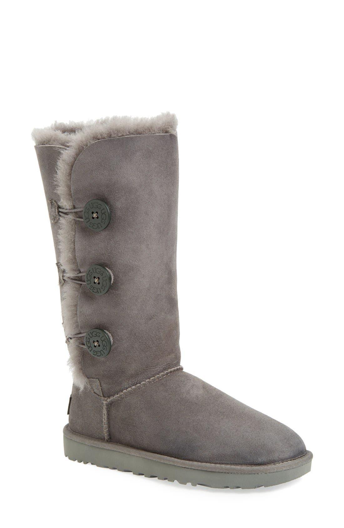 Ugg Bailey Button Triplet Ii Genuine Shearling Boot