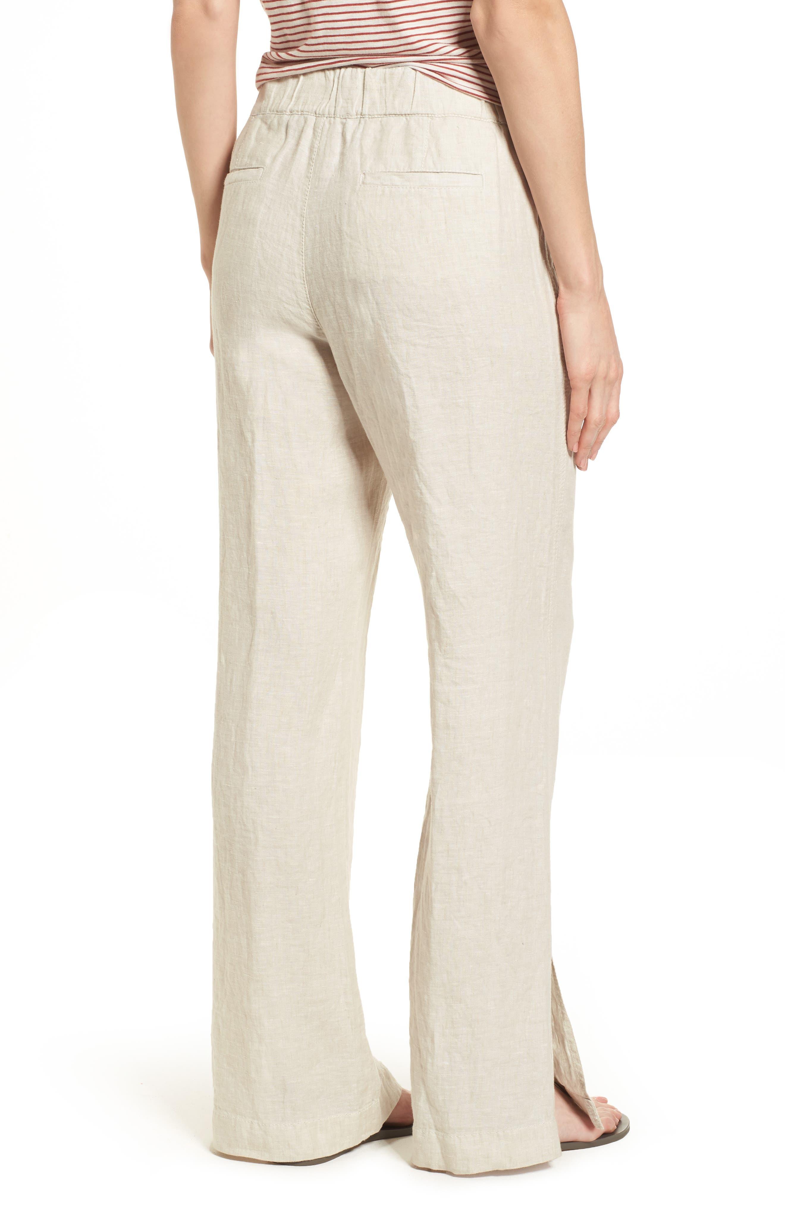 Linen Track Pants,                             Alternate thumbnail 8, color,