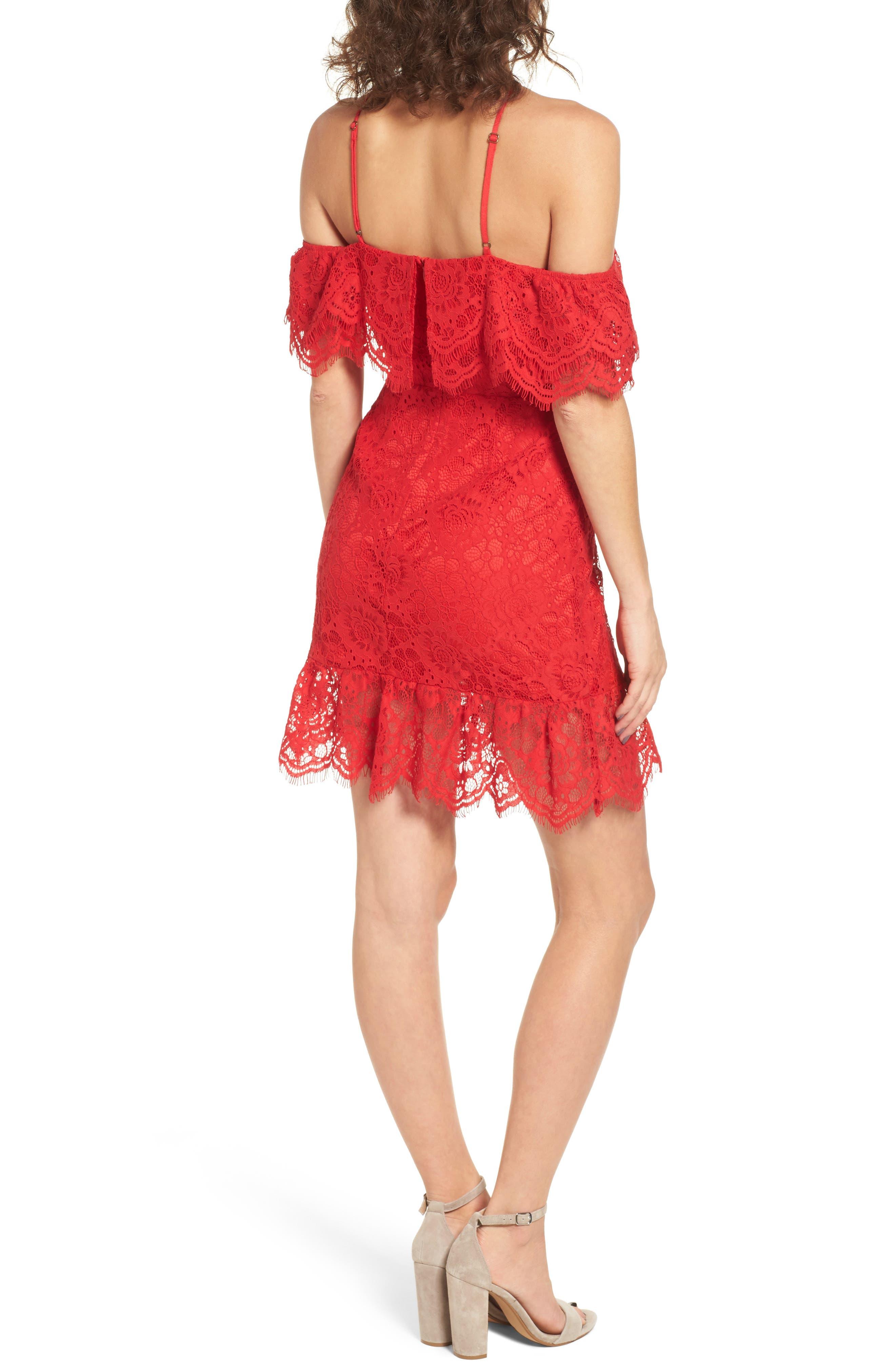 L'Amour Ruffle Halter Dress,                             Alternate thumbnail 2, color,                             600