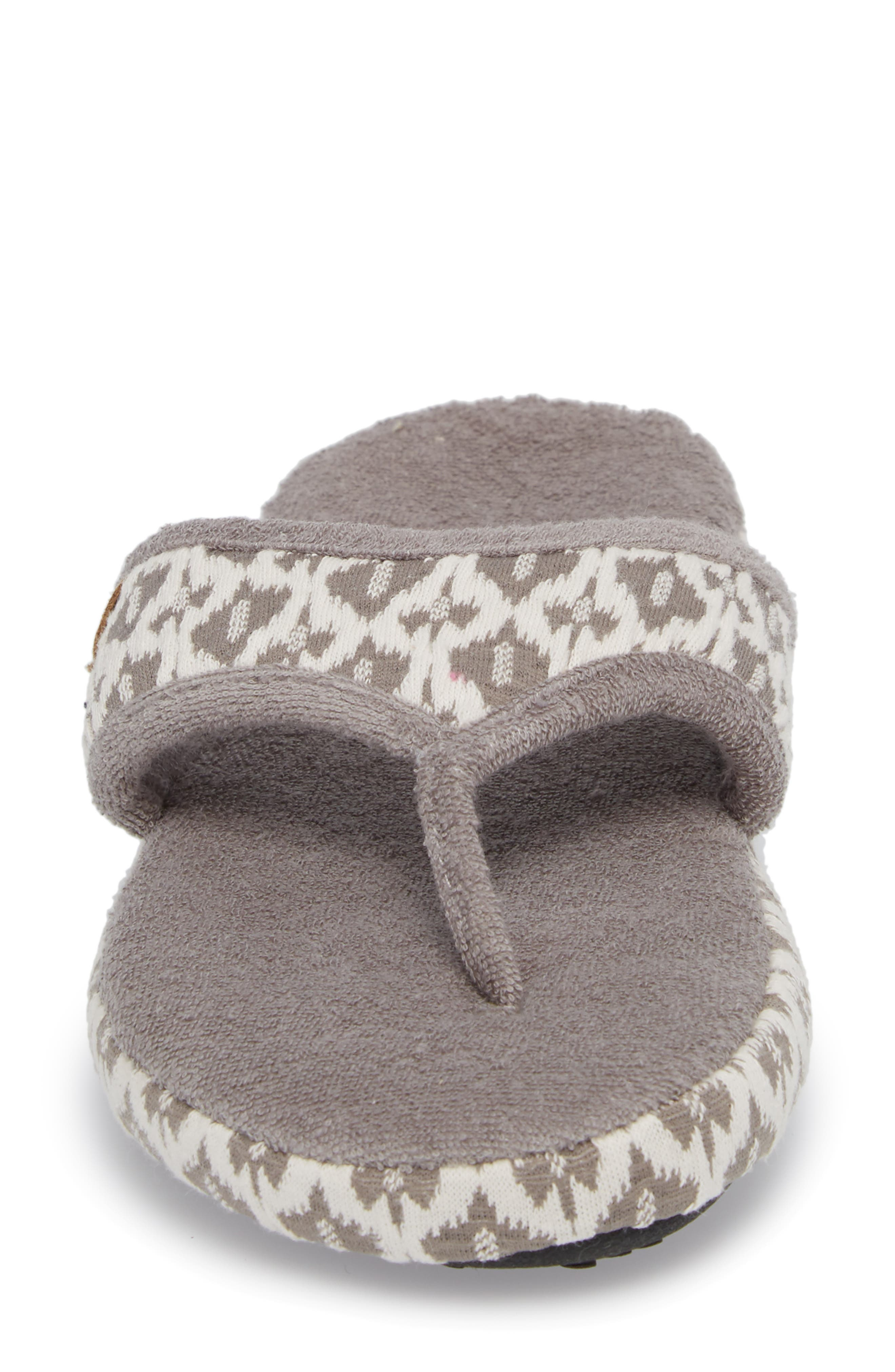 'Summerweight' Slipper,                             Alternate thumbnail 4, color,                             ASH TRIBAL