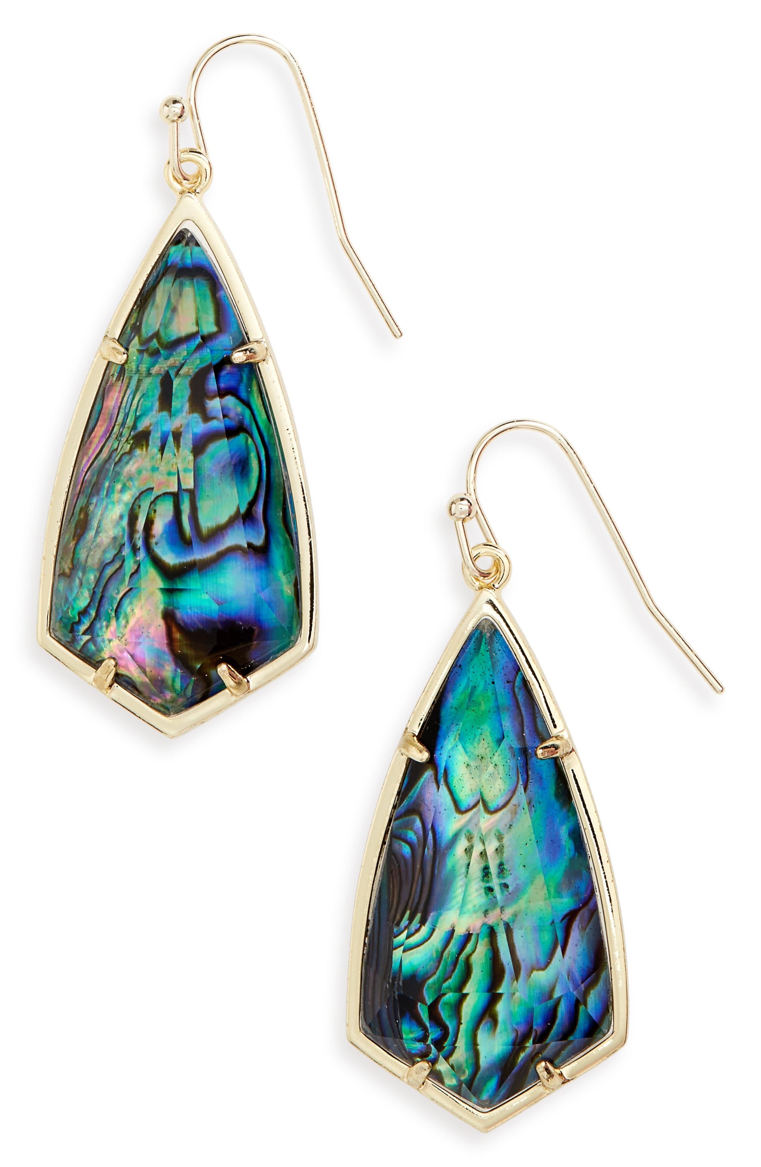 Carla Semiprecious Stone Drop Earrings,                             Main thumbnail 7, color,