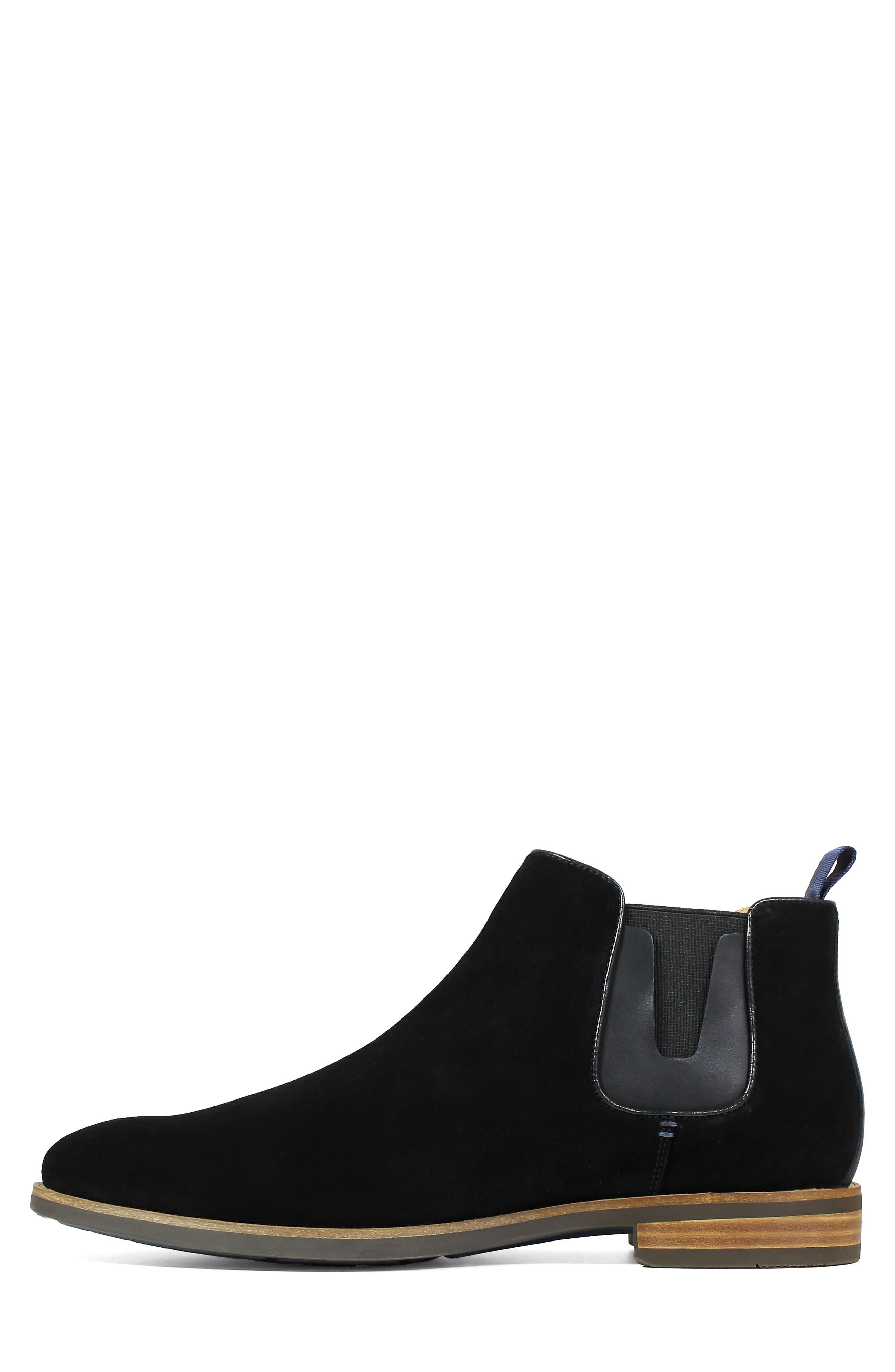 Uptown Plain Toe Mid Chelsea Boot,                             Alternate thumbnail 8, color,                             BLACK SUEDE