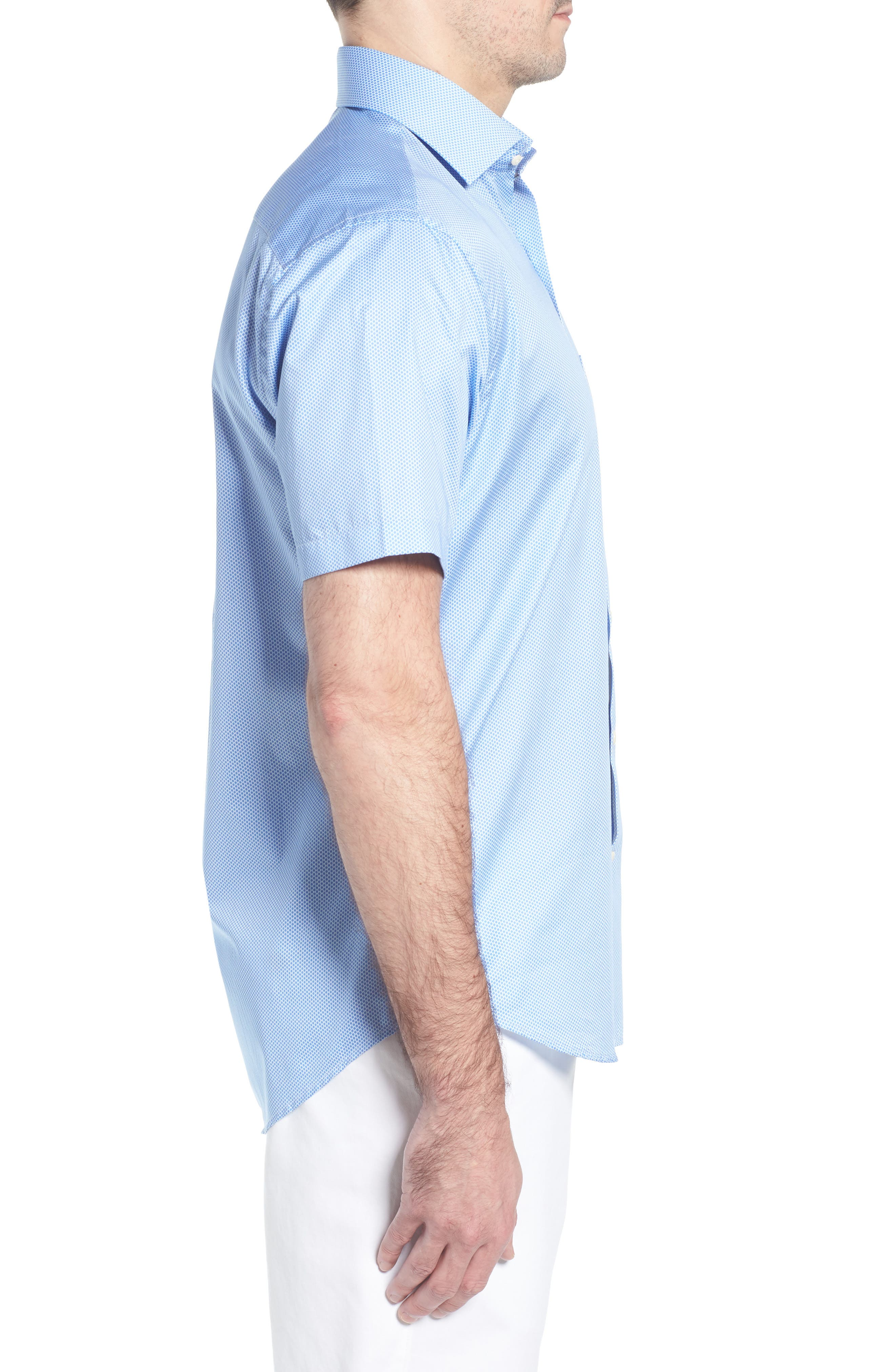 Crown Ease Connecting the Dots Sport Shirt,                             Alternate thumbnail 3, color,                             ATLAS BLUE